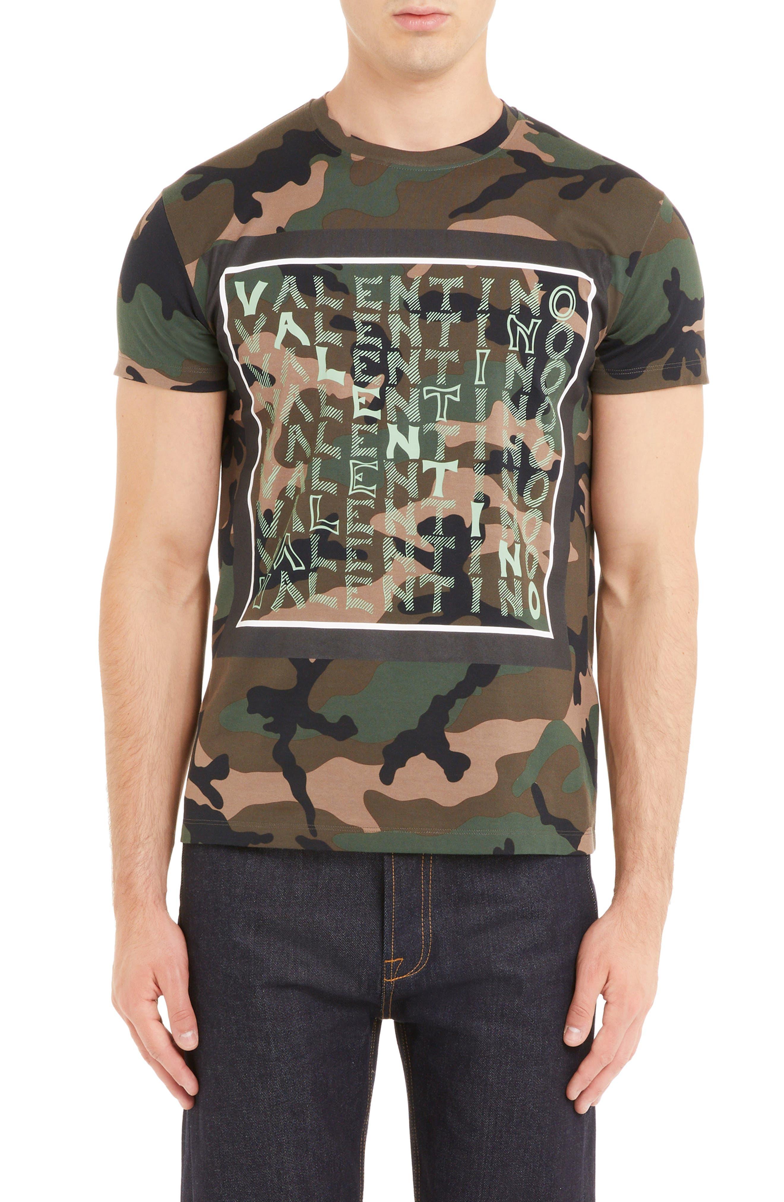 Camo Logo T-Shirt, Main, color, CAMOU ARMY