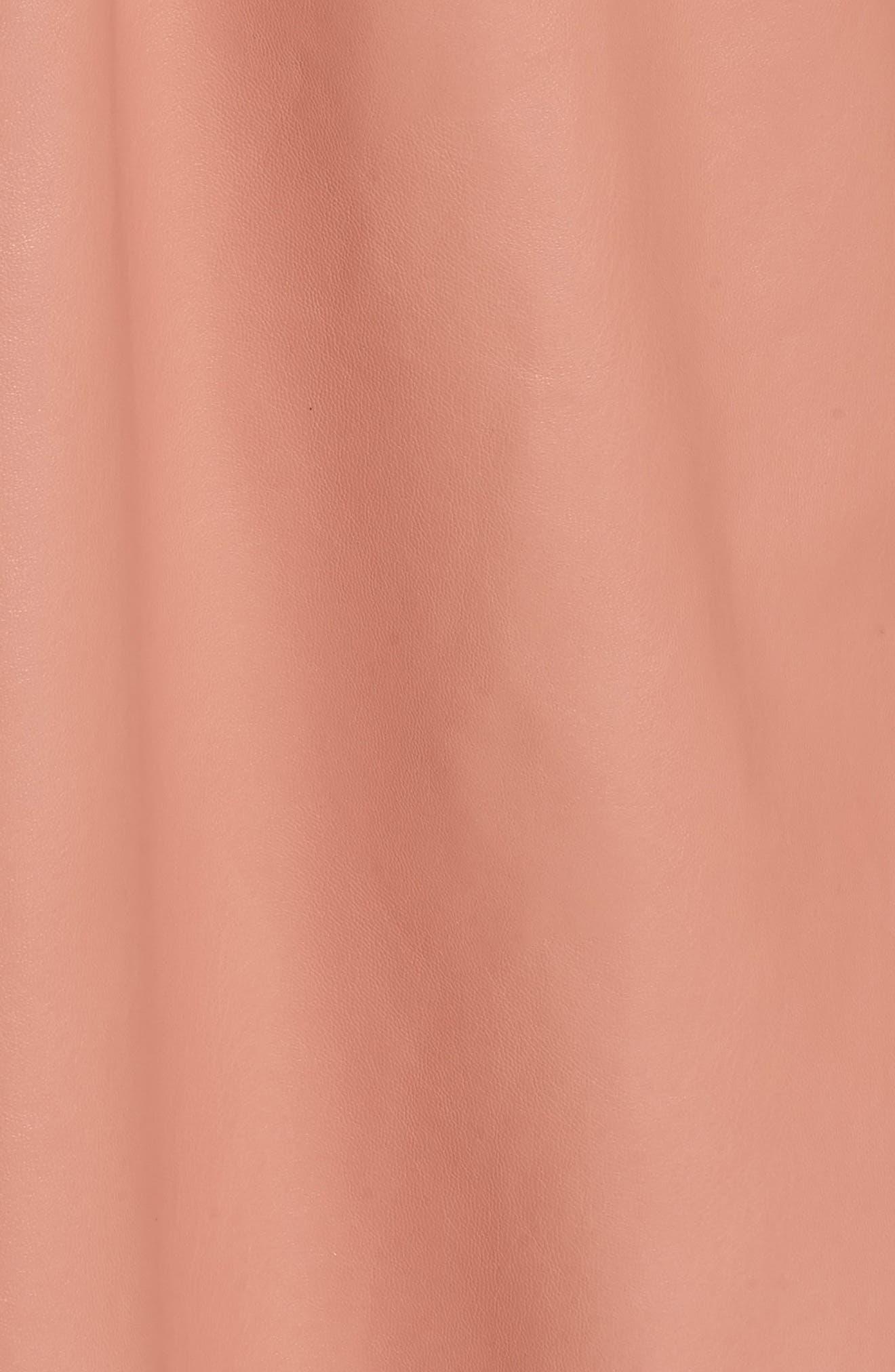 Faux Leather Skater Dress,                             Alternate thumbnail 10, color,