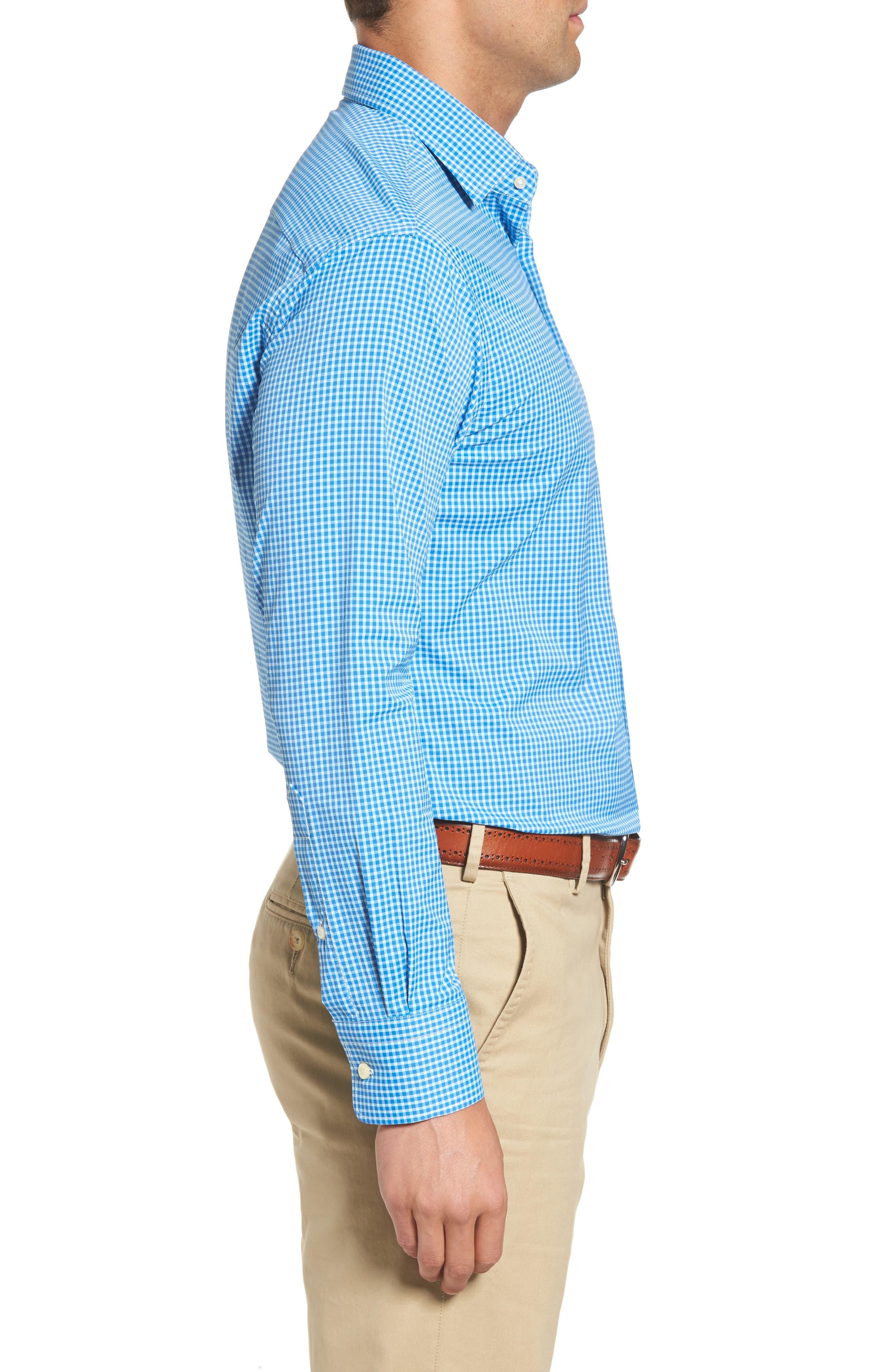 Statler Regular Fit Check Performance Sport Shirt,                             Alternate thumbnail 3, color,                             403