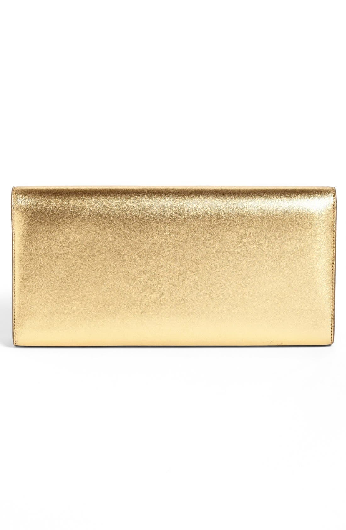 'Cassandre' Leather Clutch,                             Alternate thumbnail 4, color,                             710