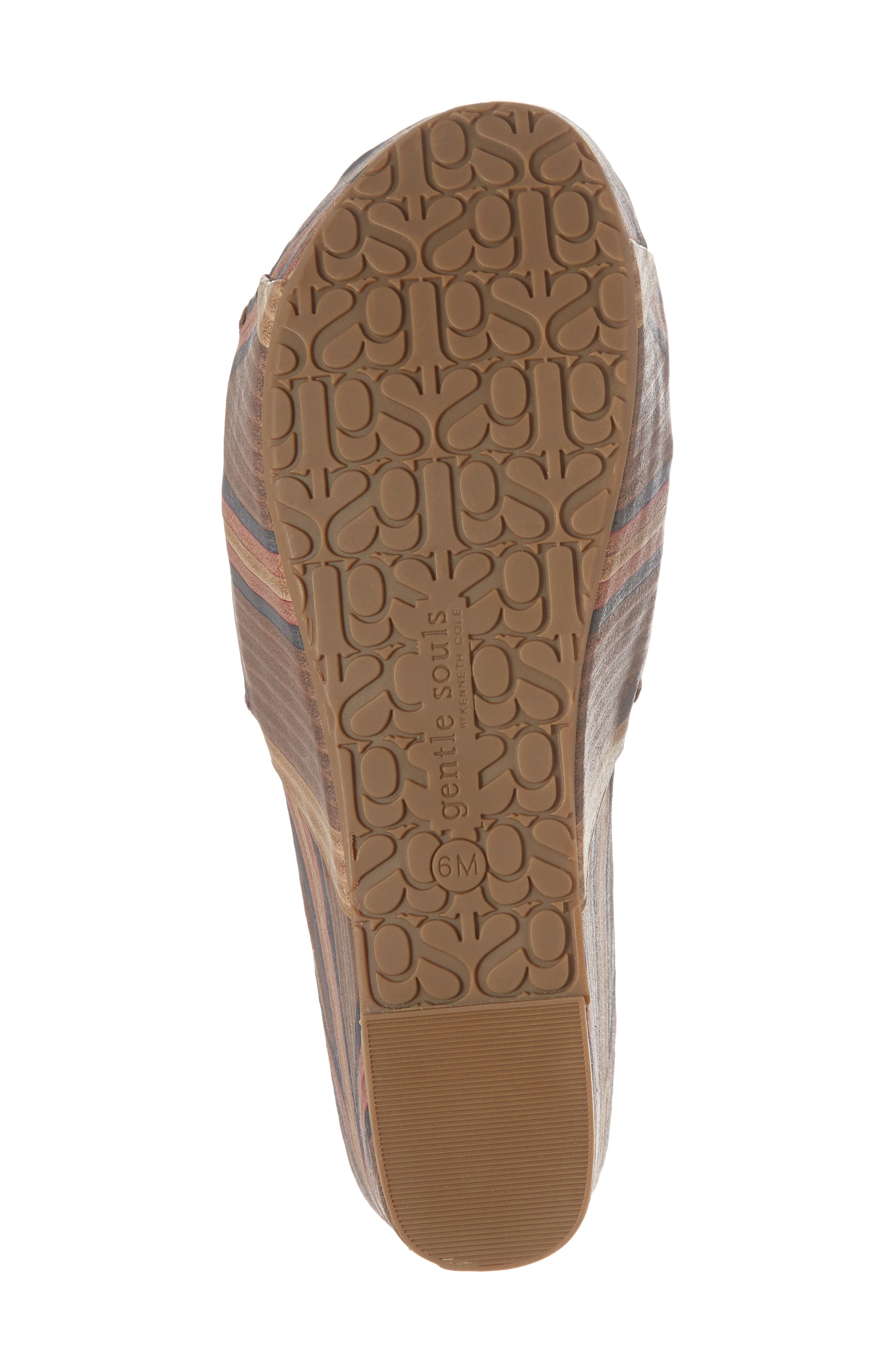 by Kenneth Cole Forella Slide Sandal,                             Alternate thumbnail 6, color,                             BROWN MULTI LEATHER