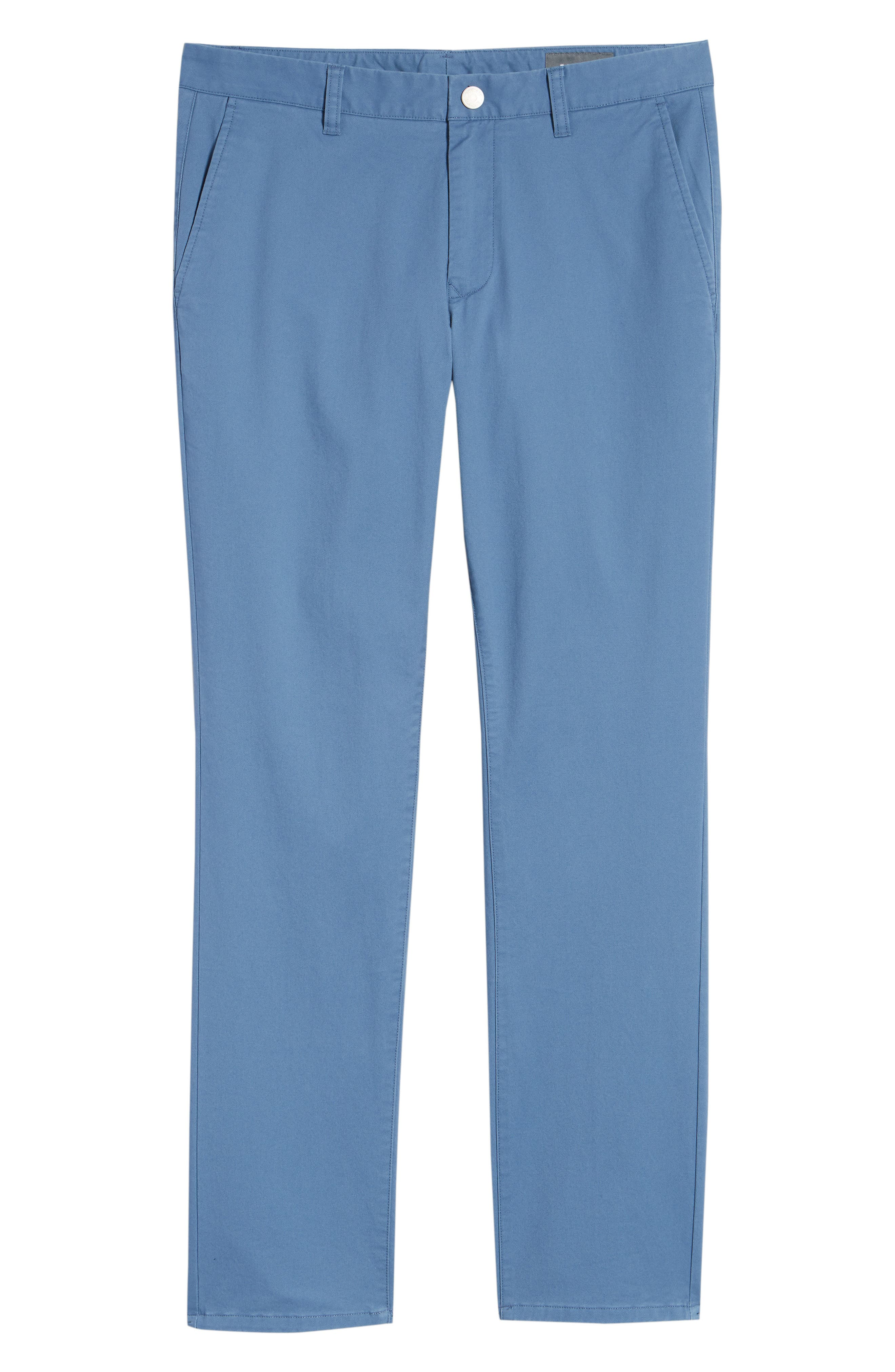 Tailored Fit Washed Stretch Cotton Chinos,                             Alternate thumbnail 187, color,