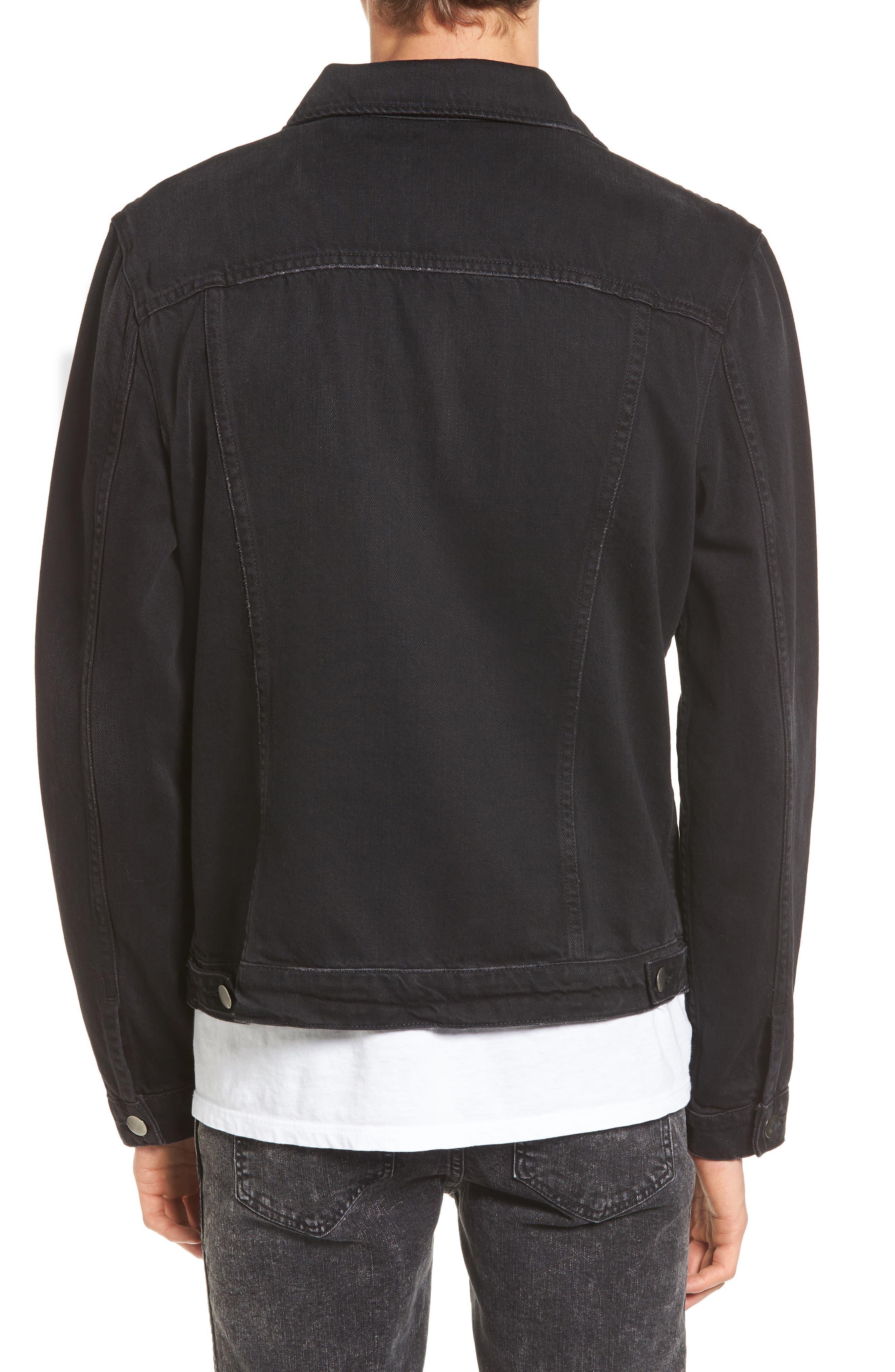 L'Homme Denim Jacket,                             Alternate thumbnail 2, color,                             001
