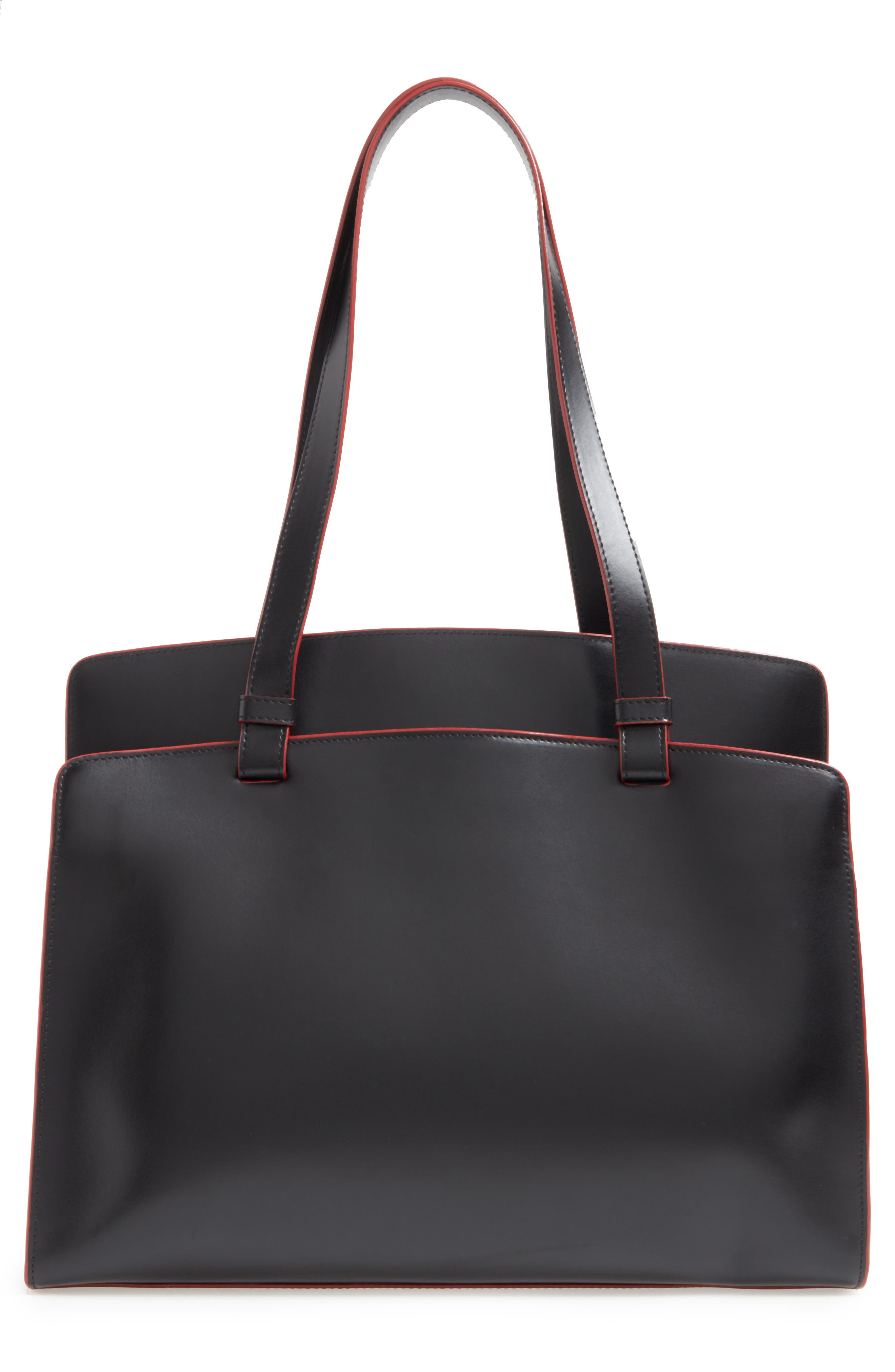 Lodis Audrey Collection - Jana Leather Tote,                             Alternate thumbnail 3, color,                             001