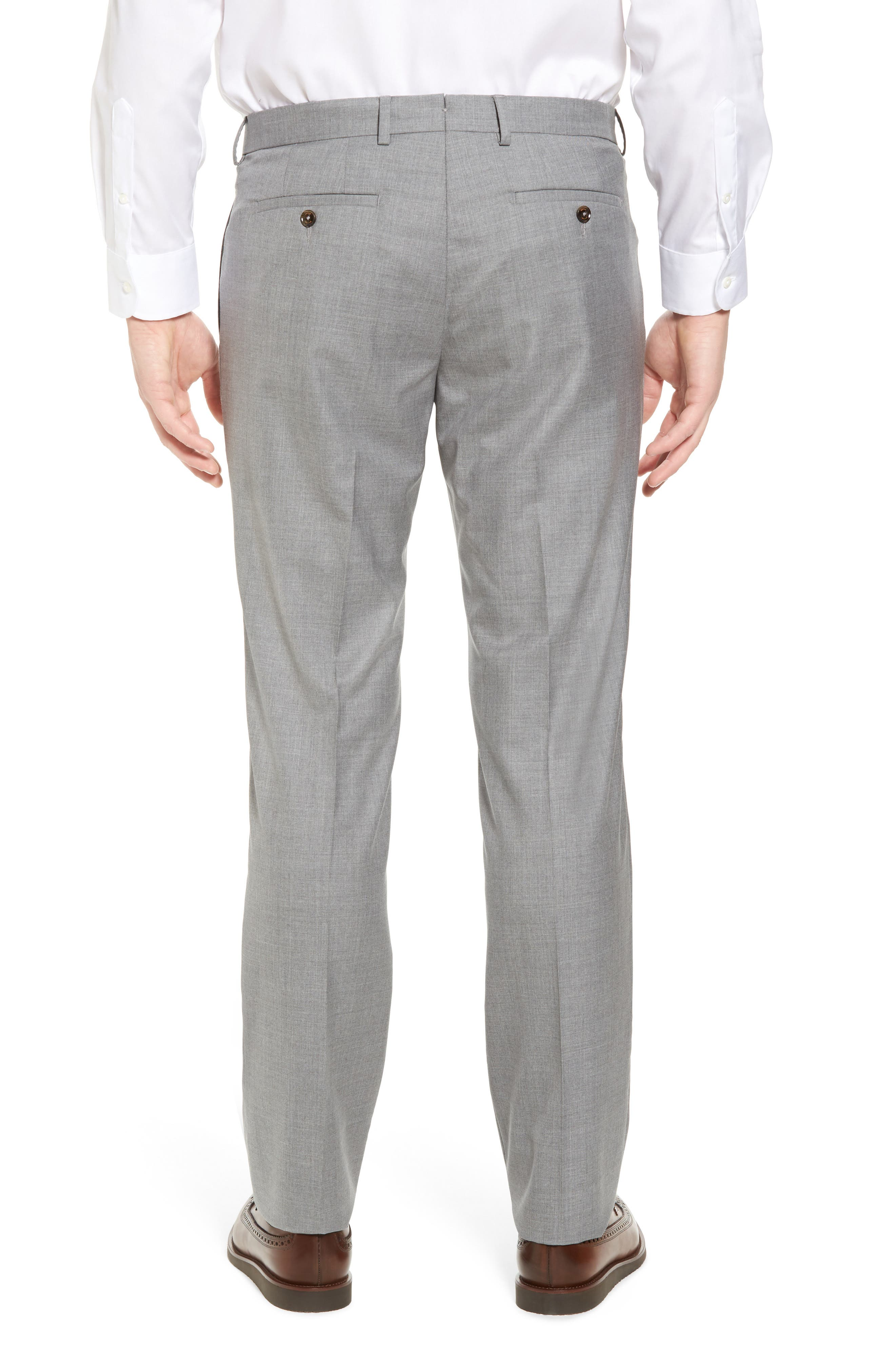 Peter Millar Multi Season Super 150s Wool Flat Front Trousers,                             Alternate thumbnail 2, color,                             047