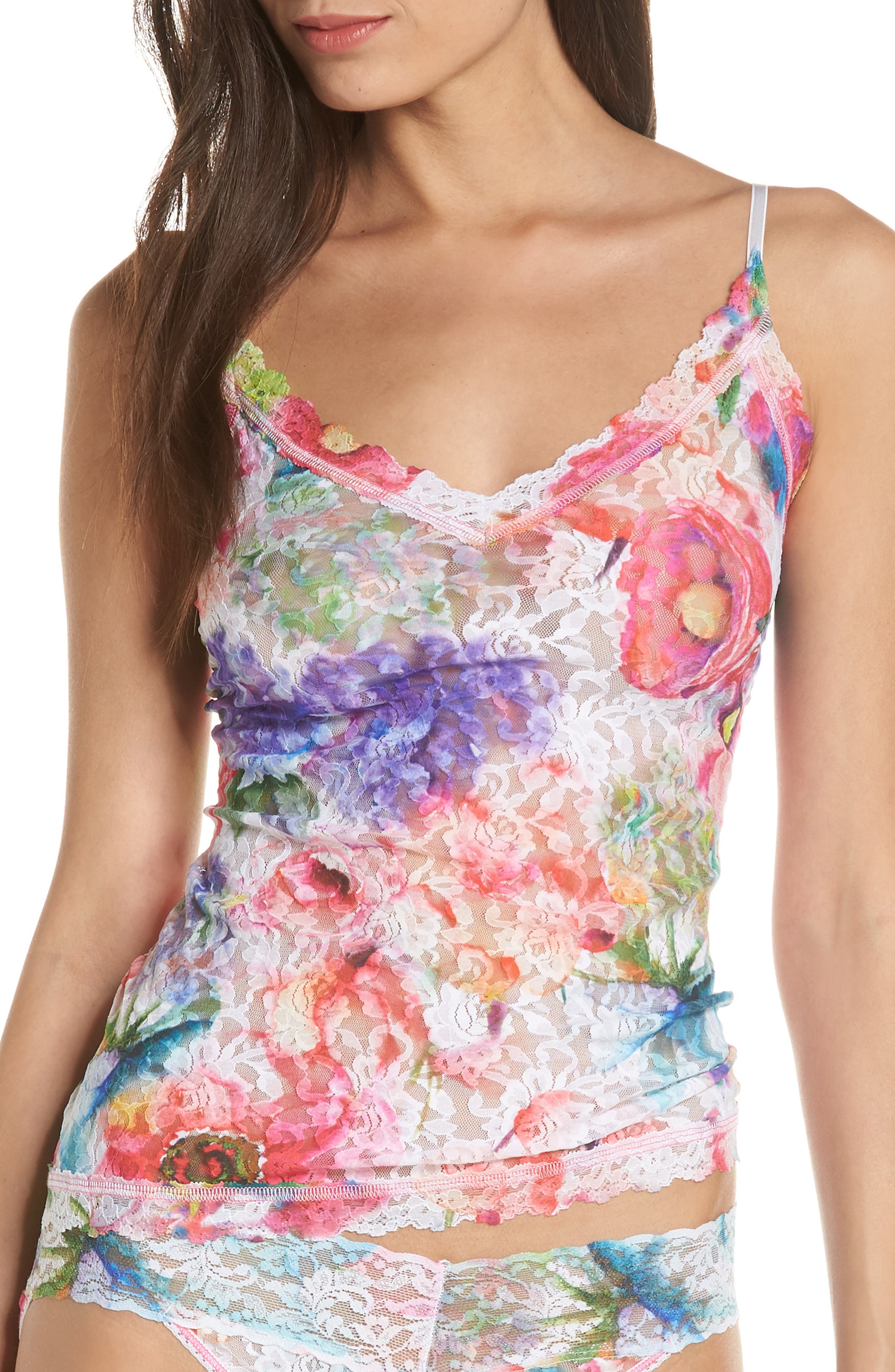 Impressionista Camisole,                             Main thumbnail 1, color,                             WHITE/ MULTI