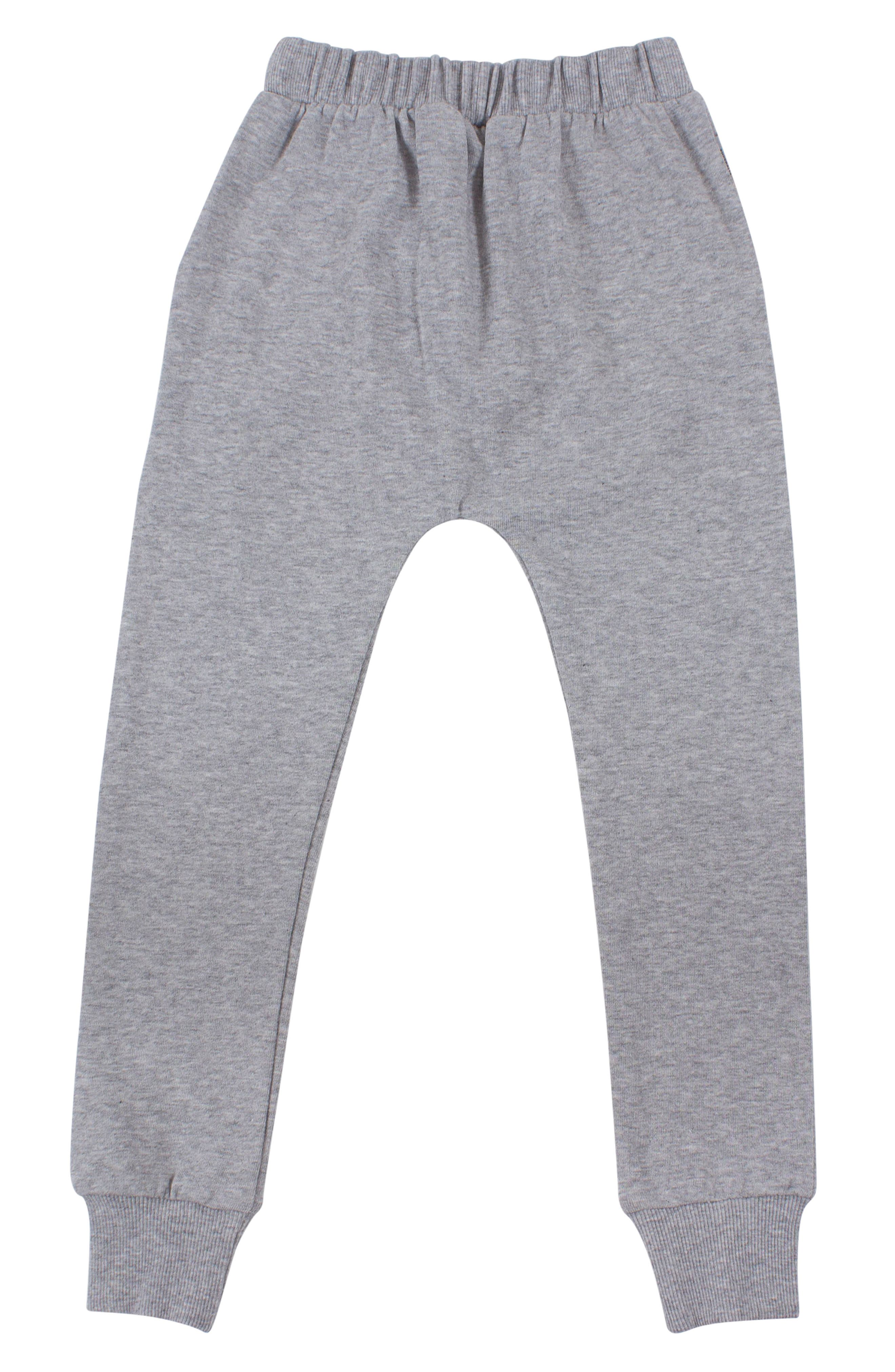 Zip Sweatpants,                             Alternate thumbnail 3, color,                             GREY MARL