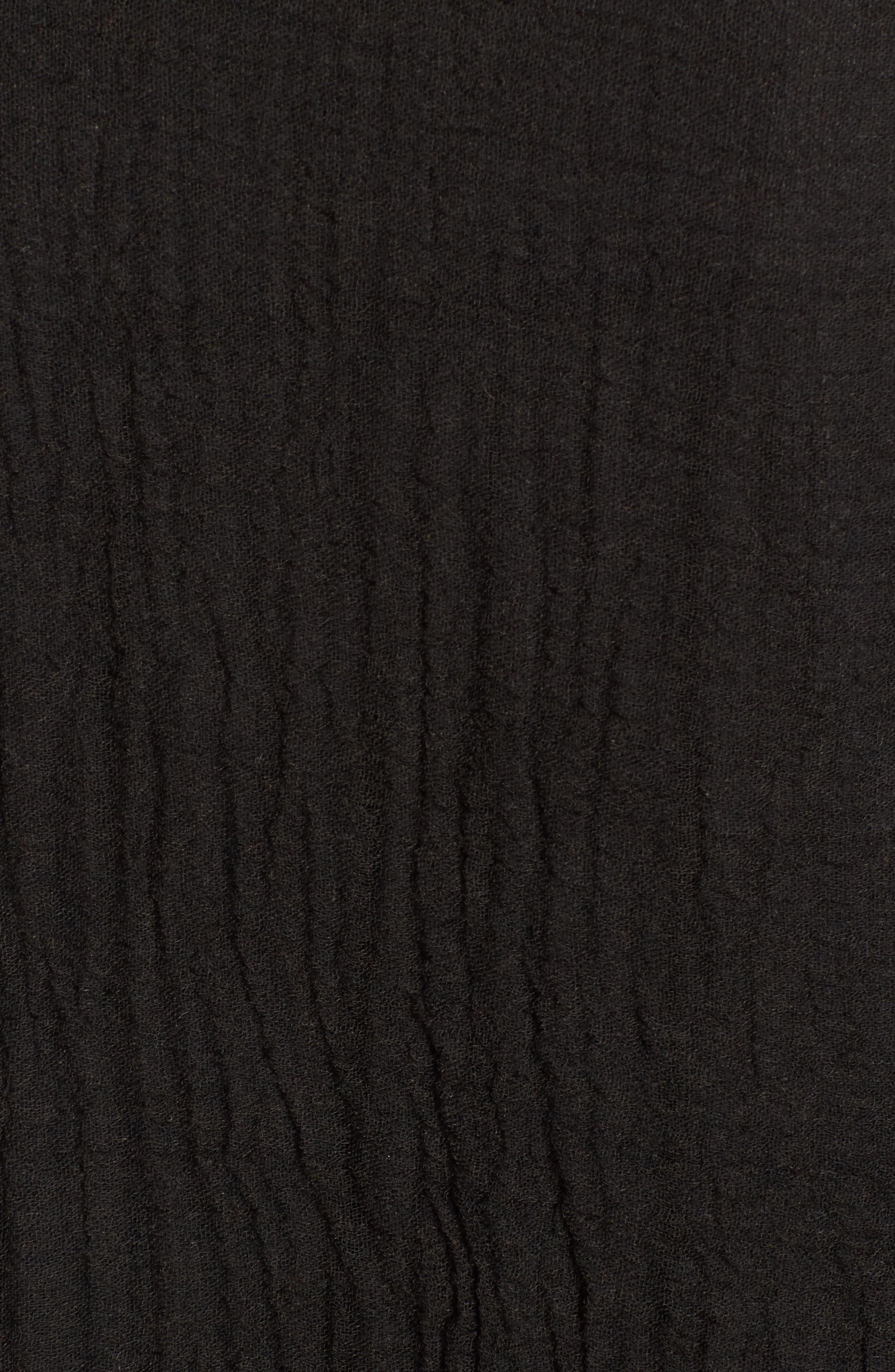 Tassel Wrap,                             Alternate thumbnail 5, color,                             BLACK