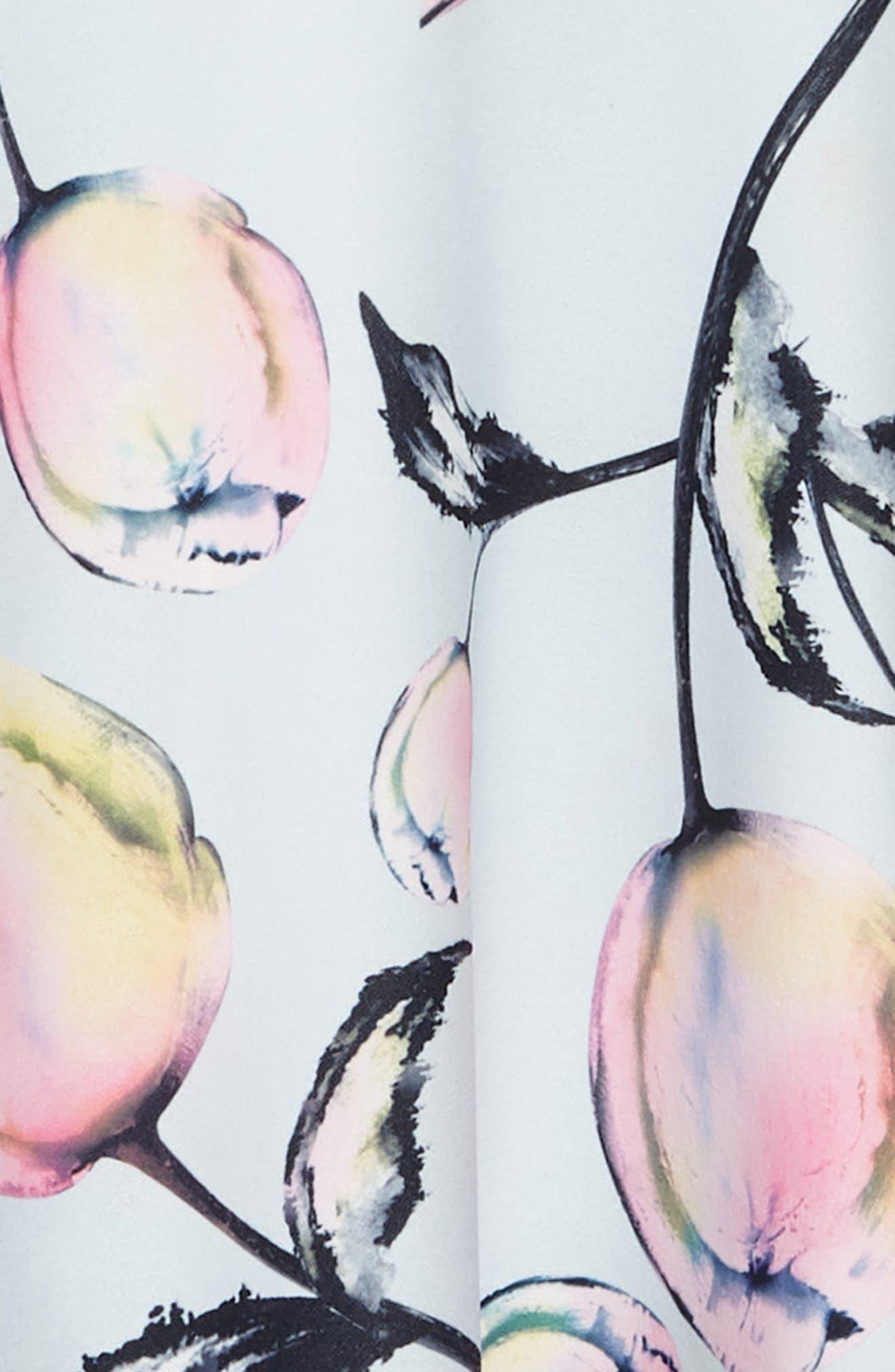 Tulip Print Sleeveless Dress,                             Alternate thumbnail 3, color,                             400