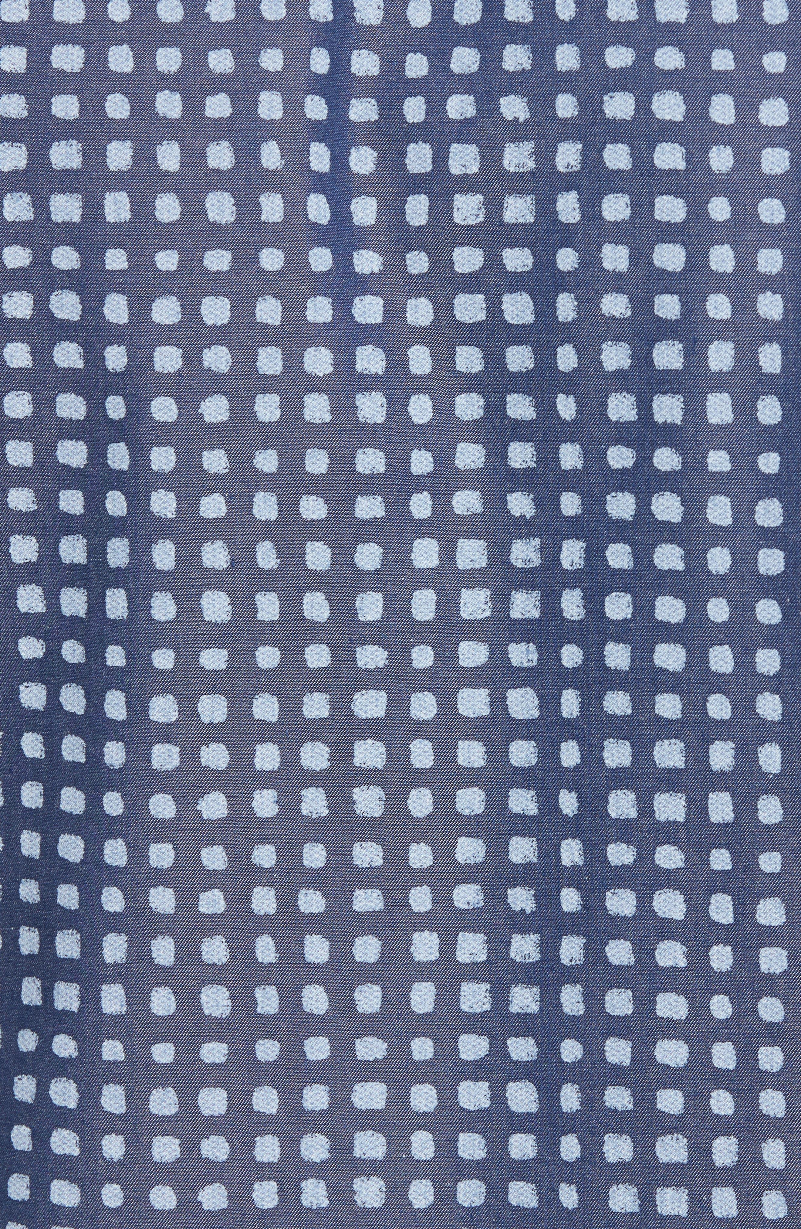 Classic Fit Dot Print Sport Shirt,                             Alternate thumbnail 5, color,                             411