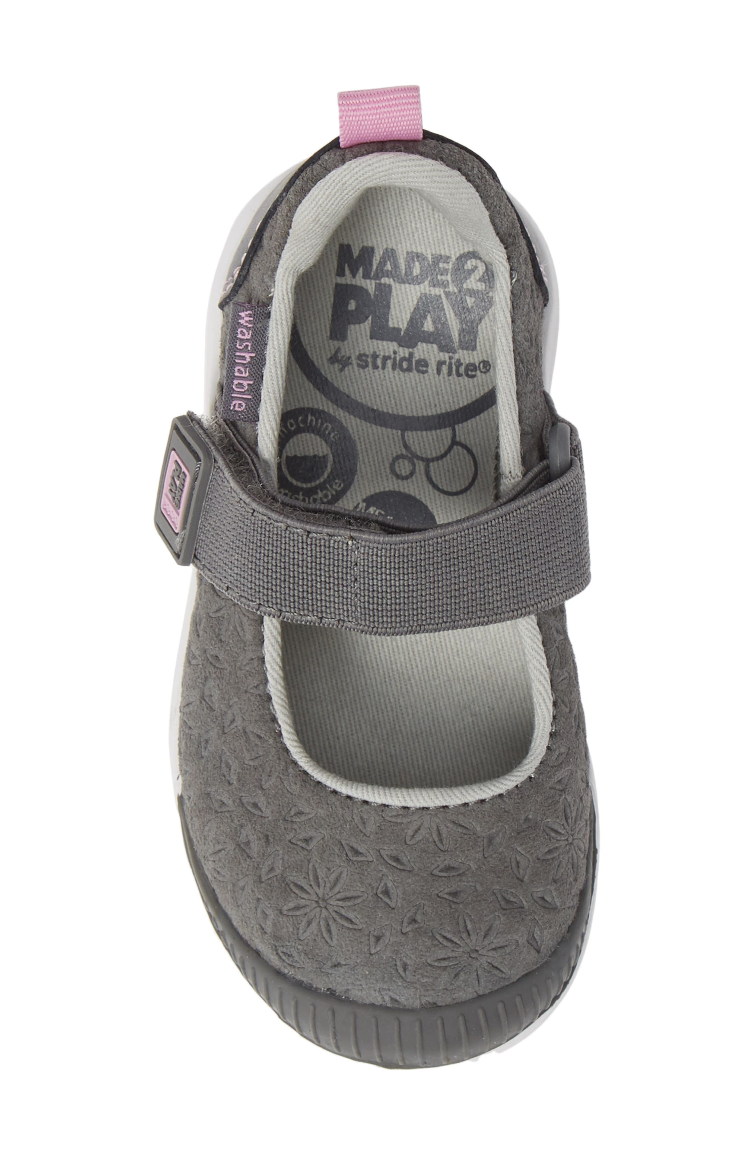 Made2Play<sup>®</sup> Lia Washable Mary Jane Sneaker,                             Alternate thumbnail 5, color,                             GREY