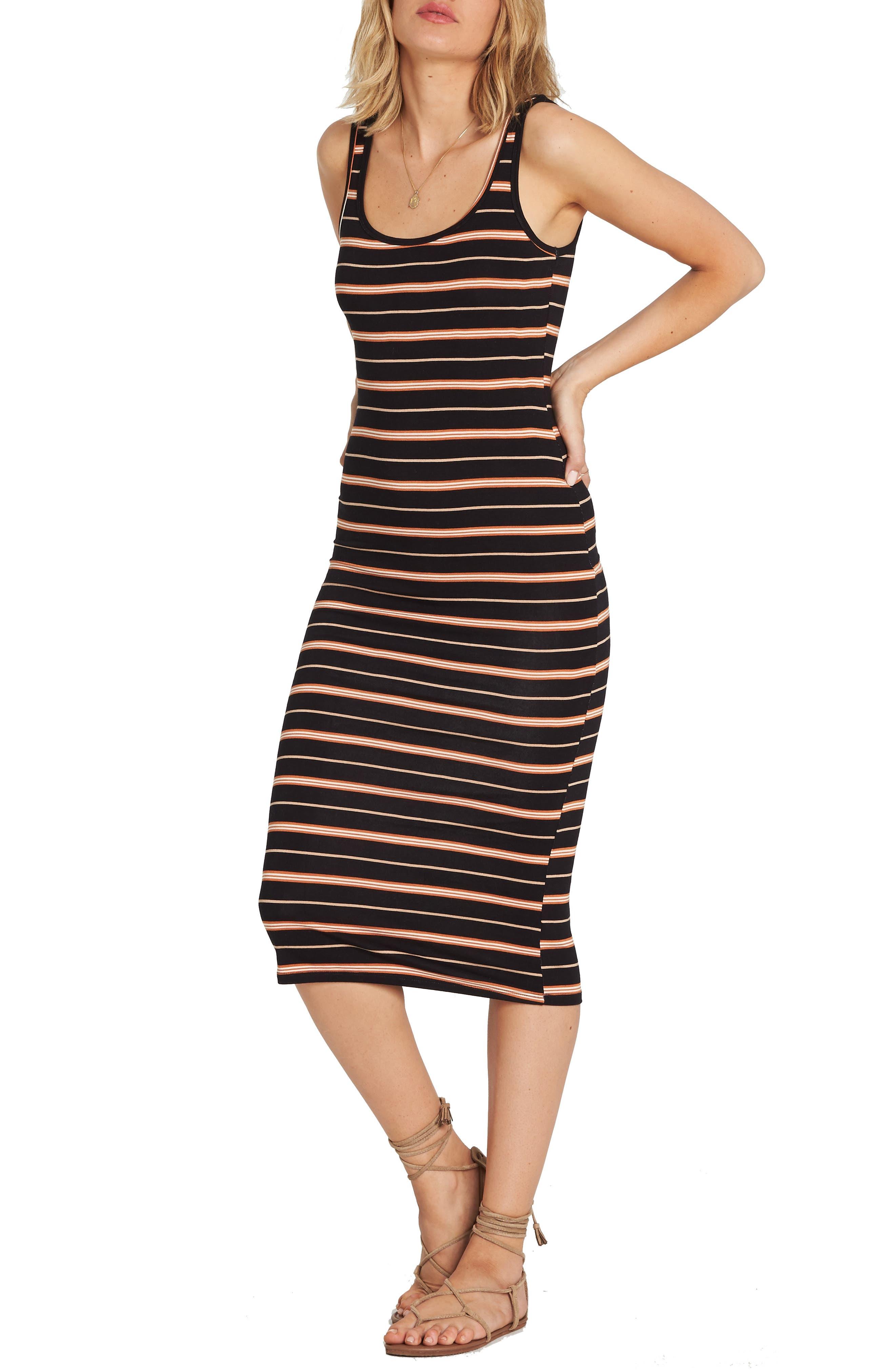 Share Joy Body-Con Midi Dress,                             Alternate thumbnail 3, color,                             TOFFEE