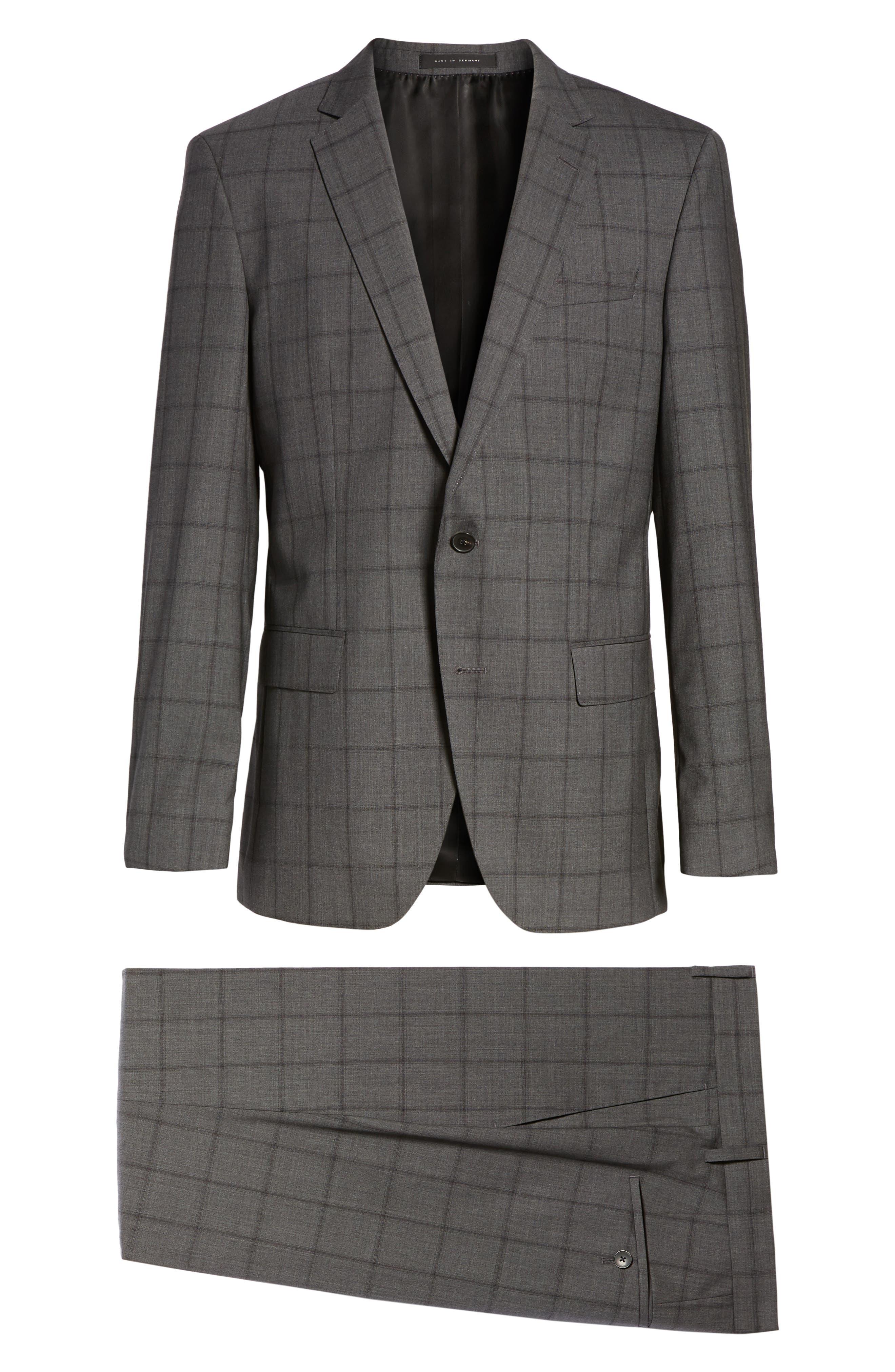 Huge/Genius Trim Fit Check Suit,                             Alternate thumbnail 8, color,                             061