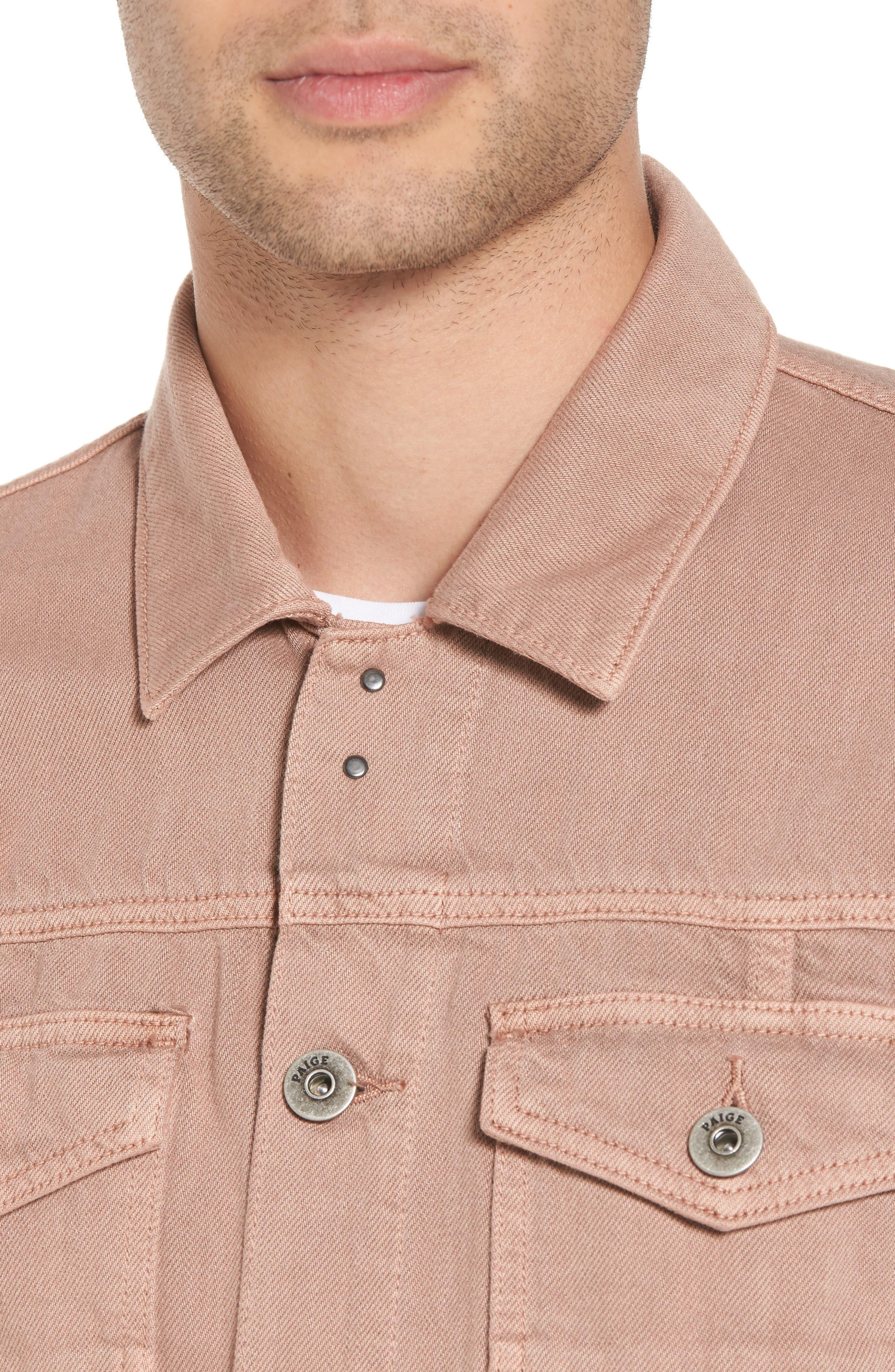 Scout Denim Jacket,                             Alternate thumbnail 4, color,                             VINTAGE DUSTY ROSE