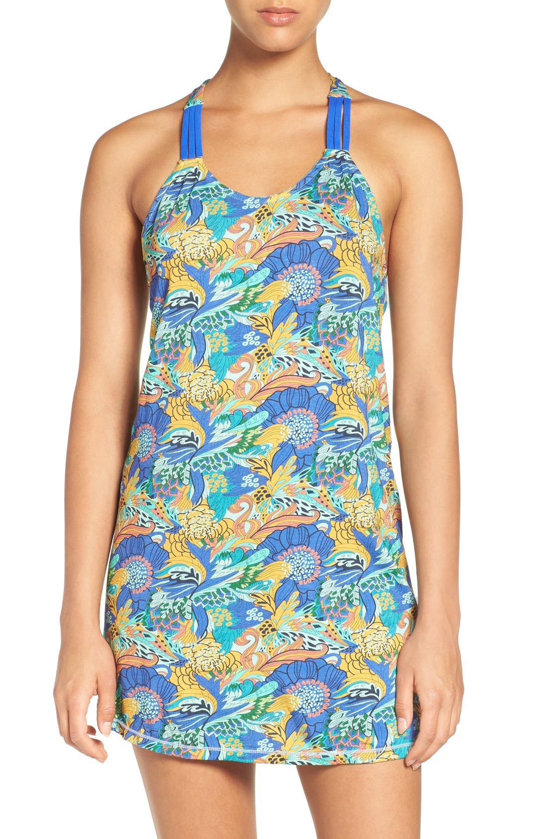 'Bloom Bastic' T-Back Cover-Up Dress,                             Main thumbnail 1, color,                             300