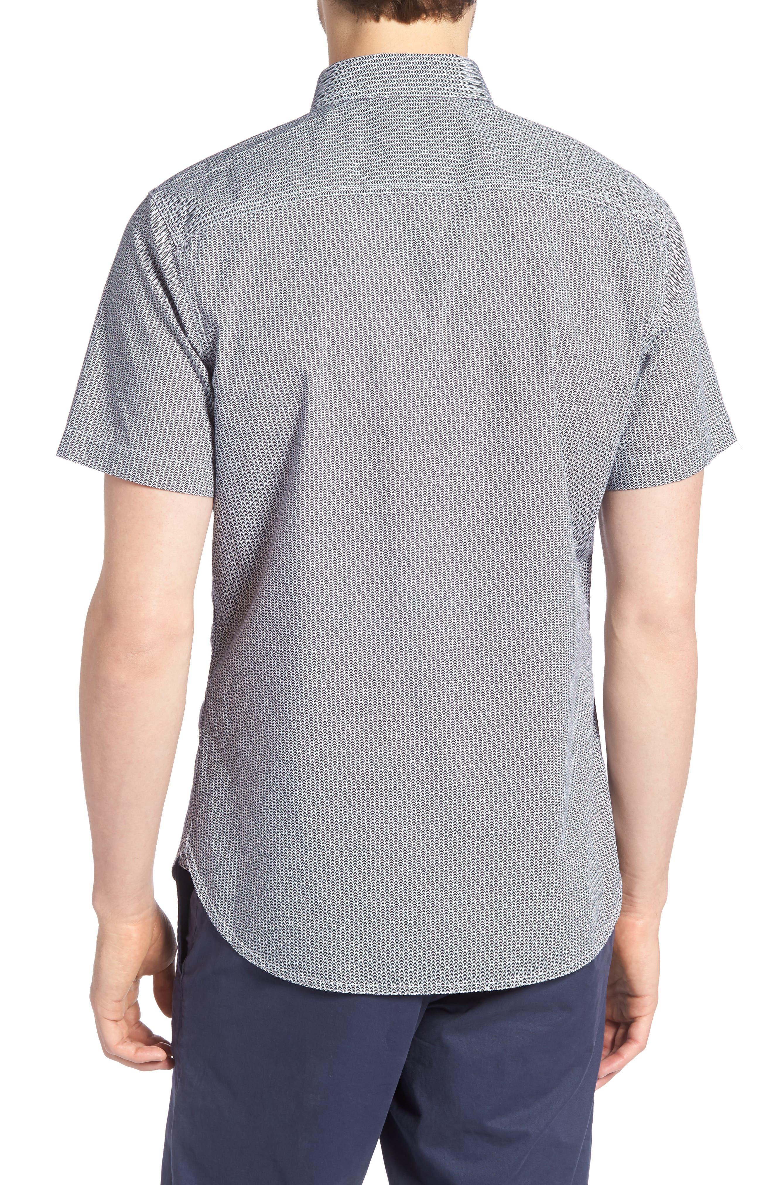Workwear Trim Fit Print Sport Shirt,                             Alternate thumbnail 2, color,