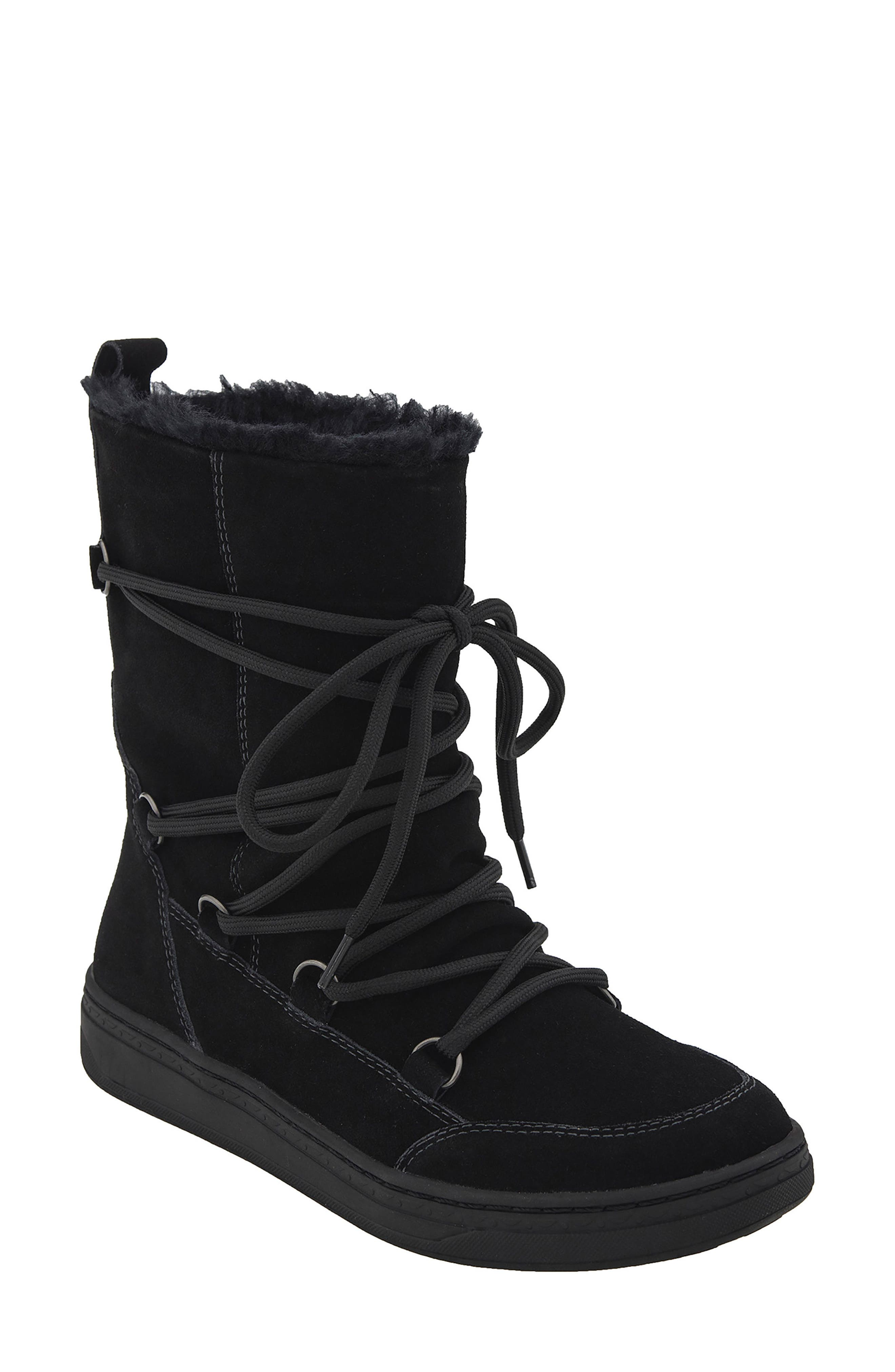 Zodiac Water Resistant Boot,                             Main thumbnail 1, color,                             BLACK SUEDE