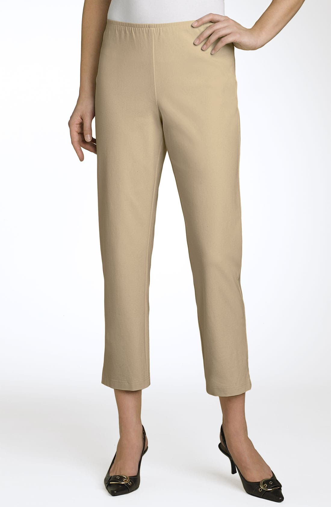 Organic Stretch Cotton Twill Ankle Pants,                             Main thumbnail 16, color,
