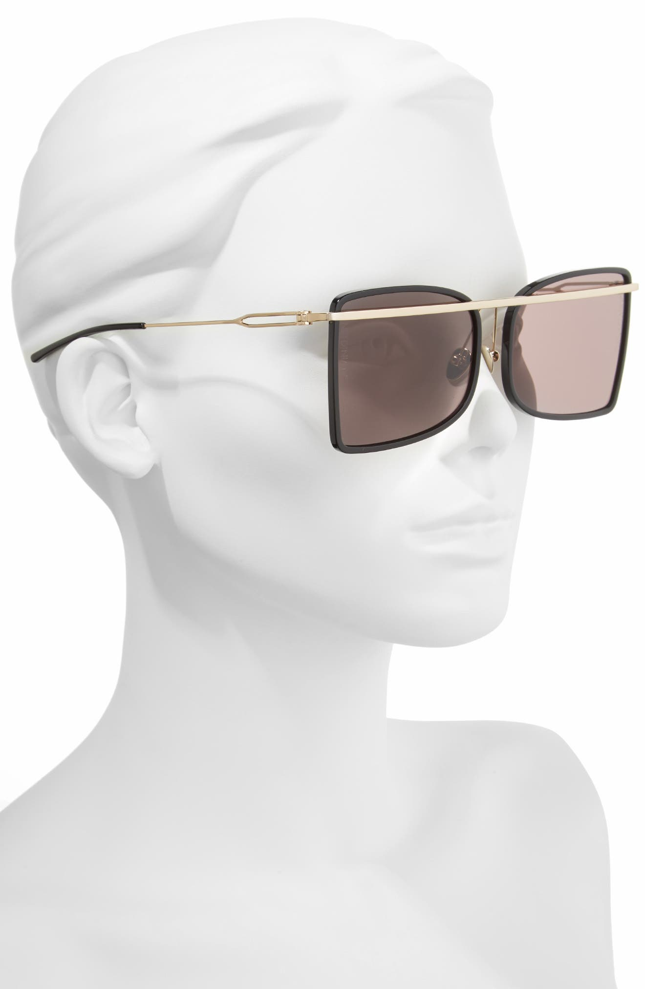 205W39NYC 60mm Butterfly Sunglasses,                             Alternate thumbnail 2, color,                             001