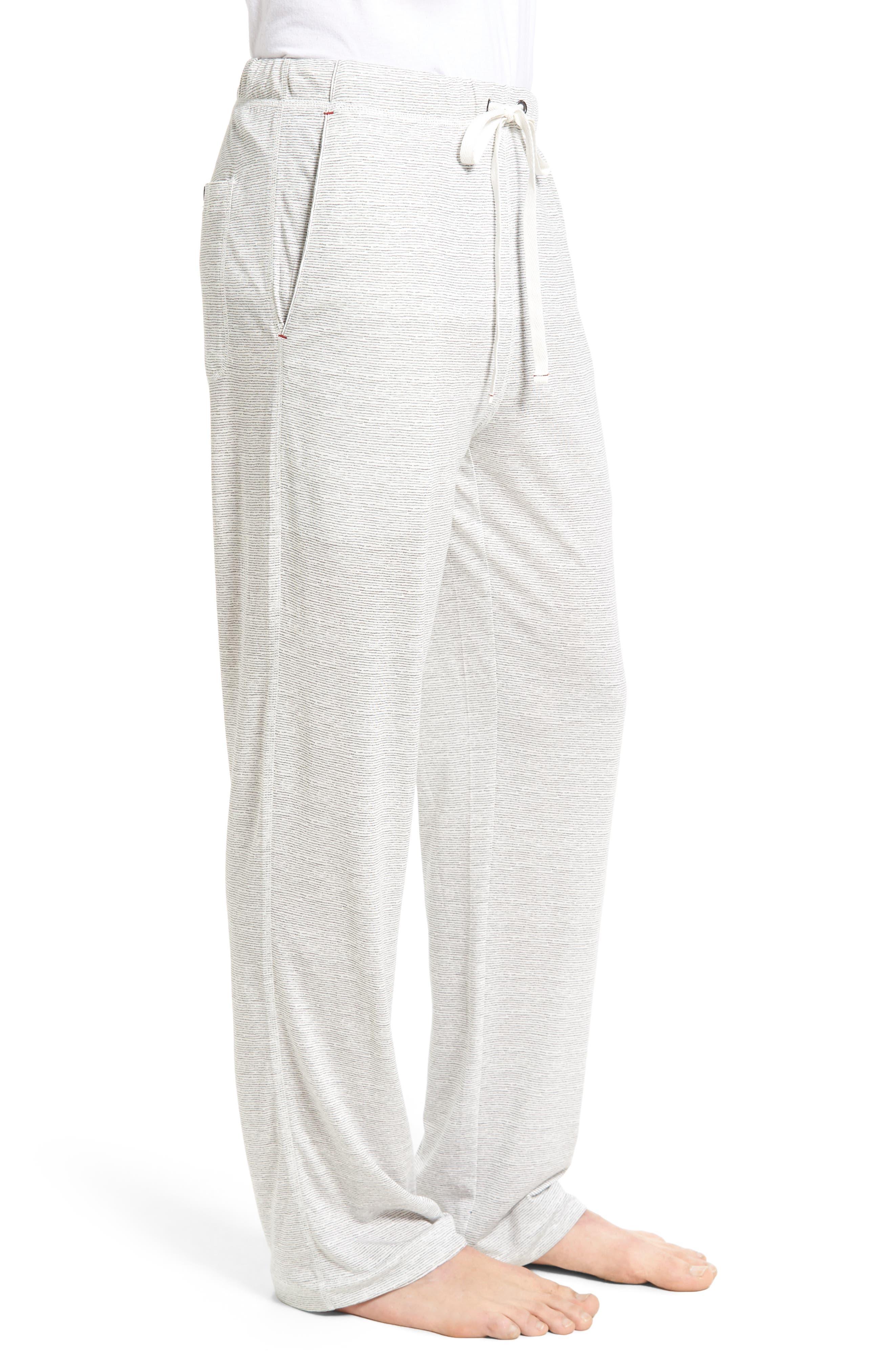 Pima Cotton & Modal Lounge Pants,                             Alternate thumbnail 3, color,                             020