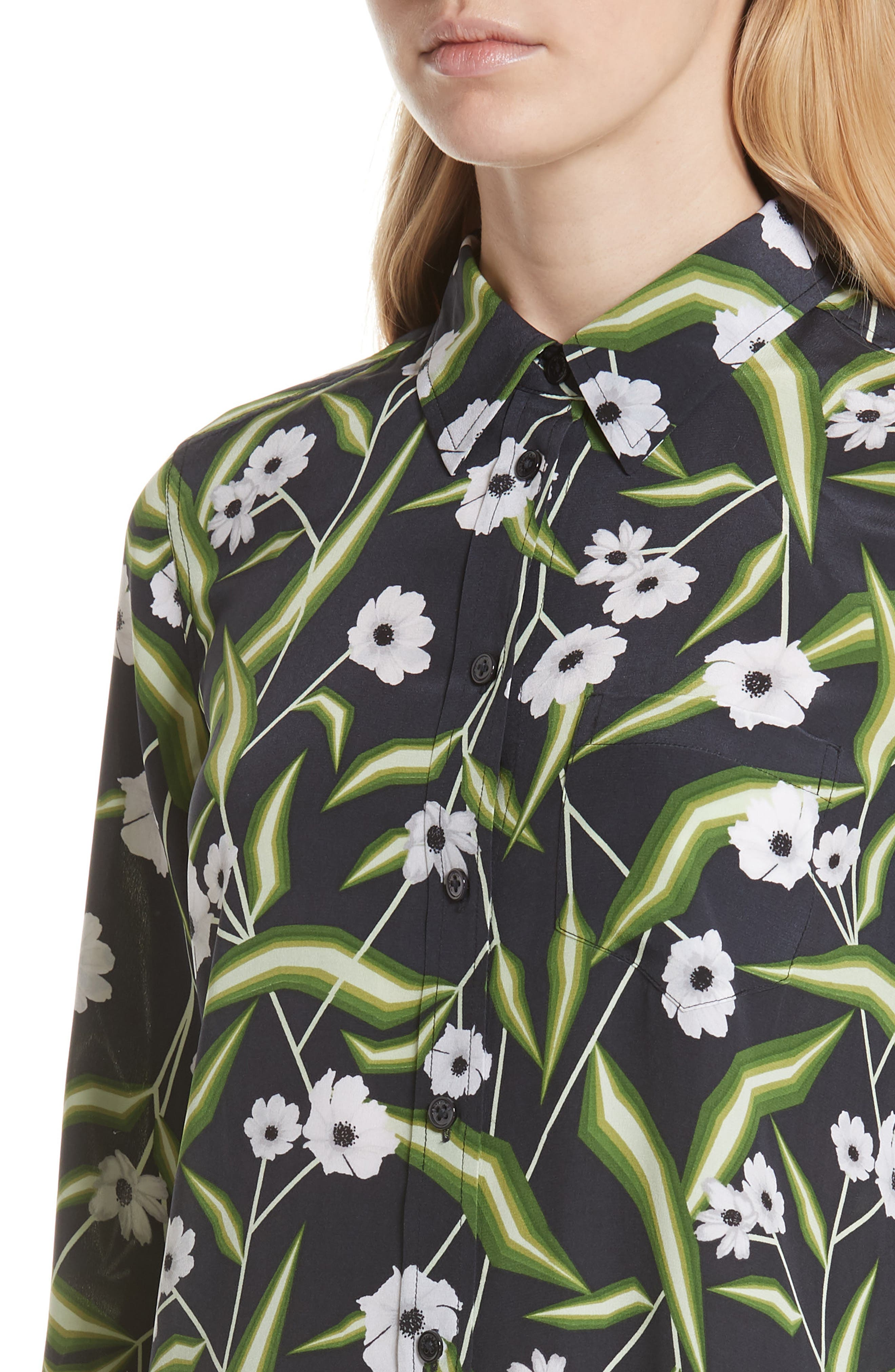 Brett Silk Shirtdress,                             Alternate thumbnail 4, color,                             426