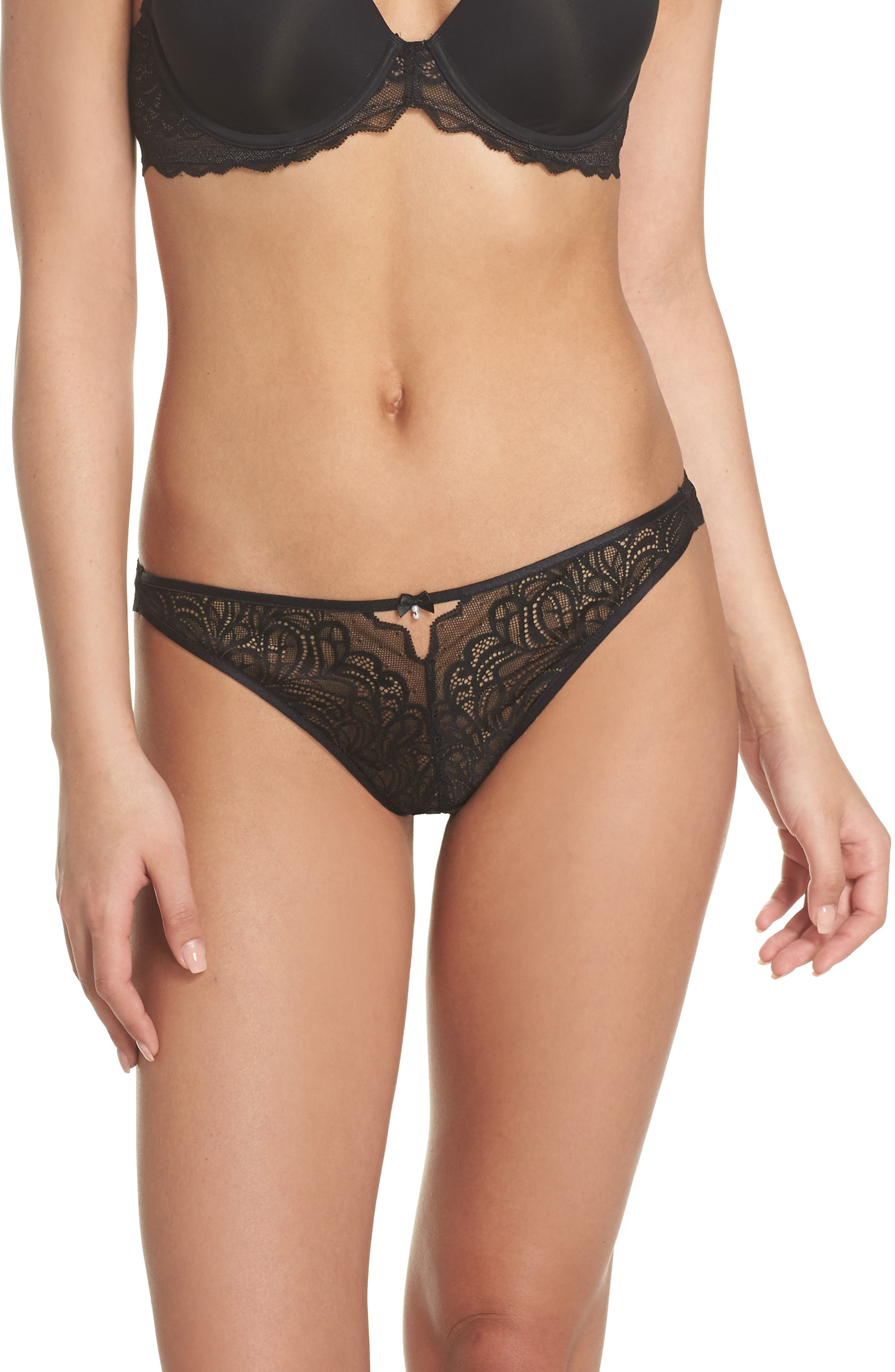 Lace Thong,                             Main thumbnail 1, color,                             004
