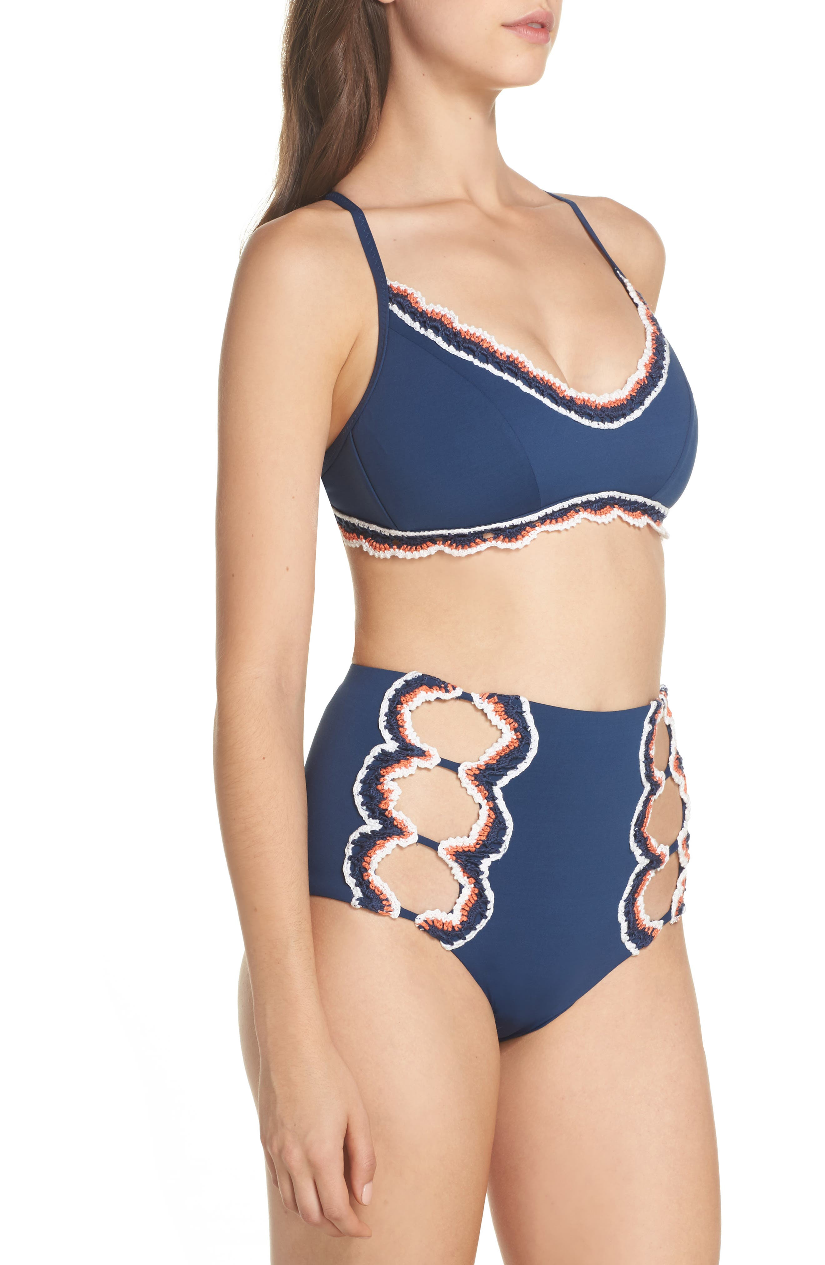 Medina High Waist Bikini Bottoms,                             Alternate thumbnail 9, color,