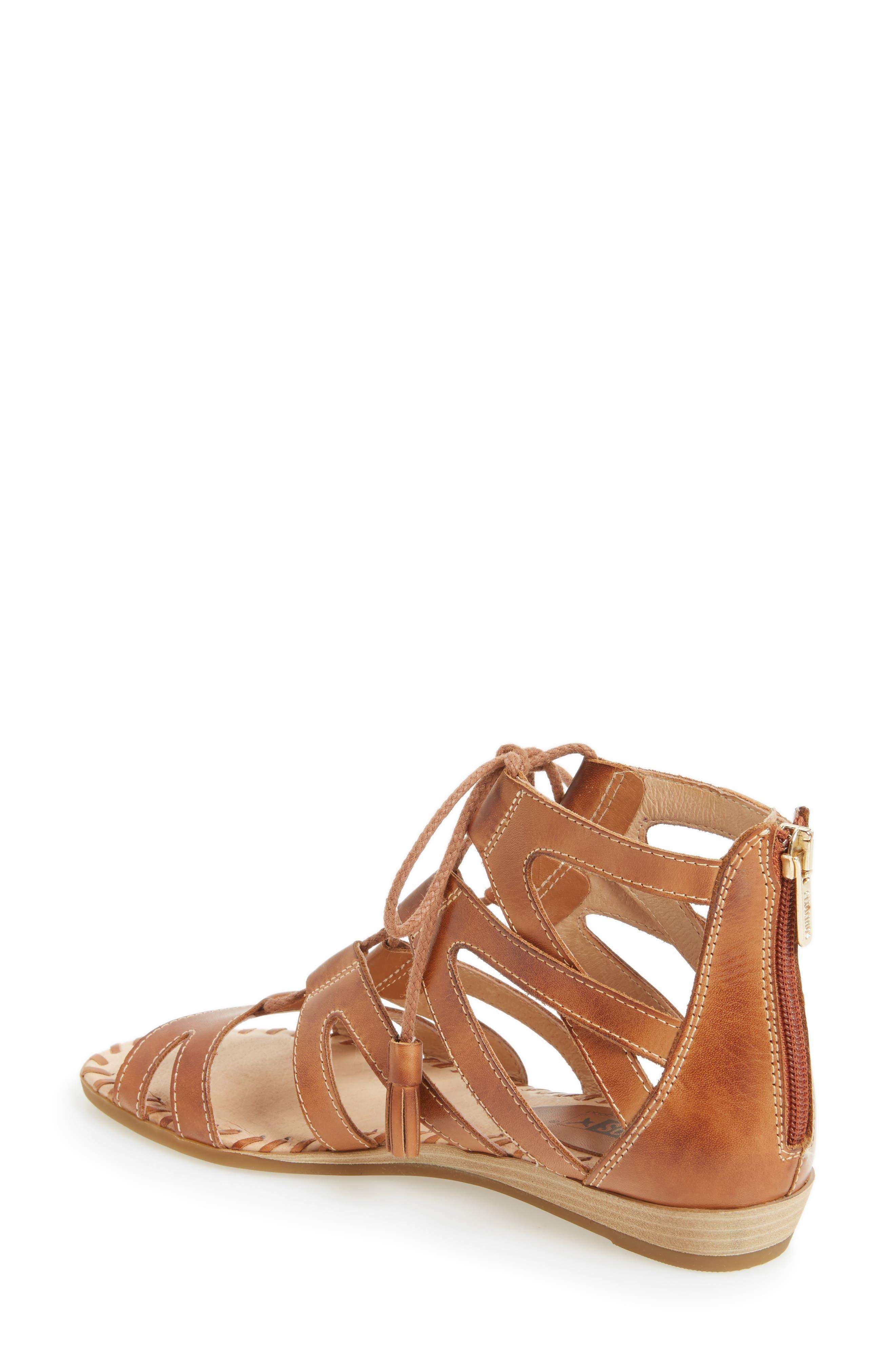 'Alcudia' Lace-Up Sandal,                             Alternate thumbnail 4, color,