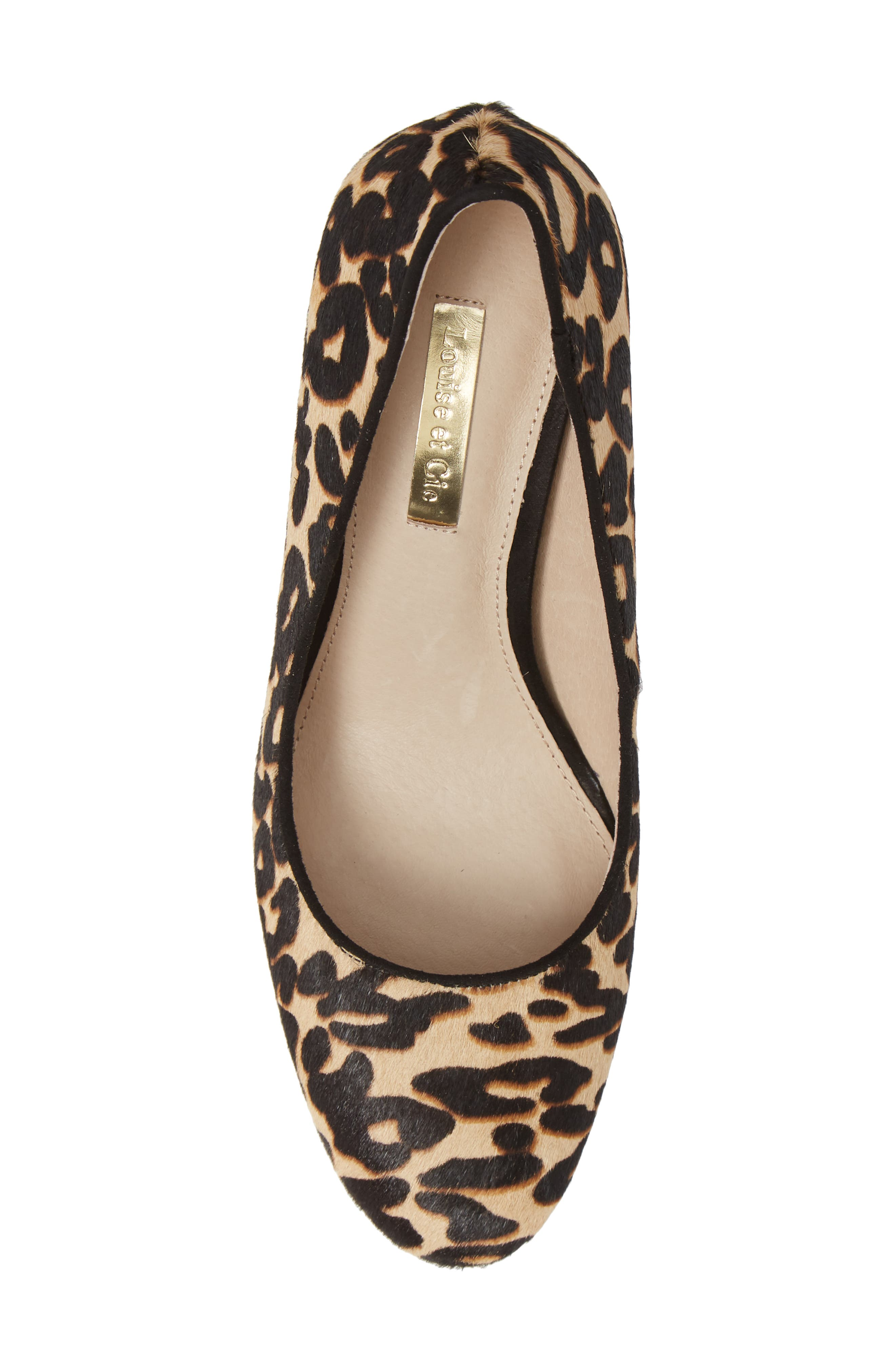 Jalzy Genuine Calf Hair Pump,                             Alternate thumbnail 5, color,                             LEOPARD