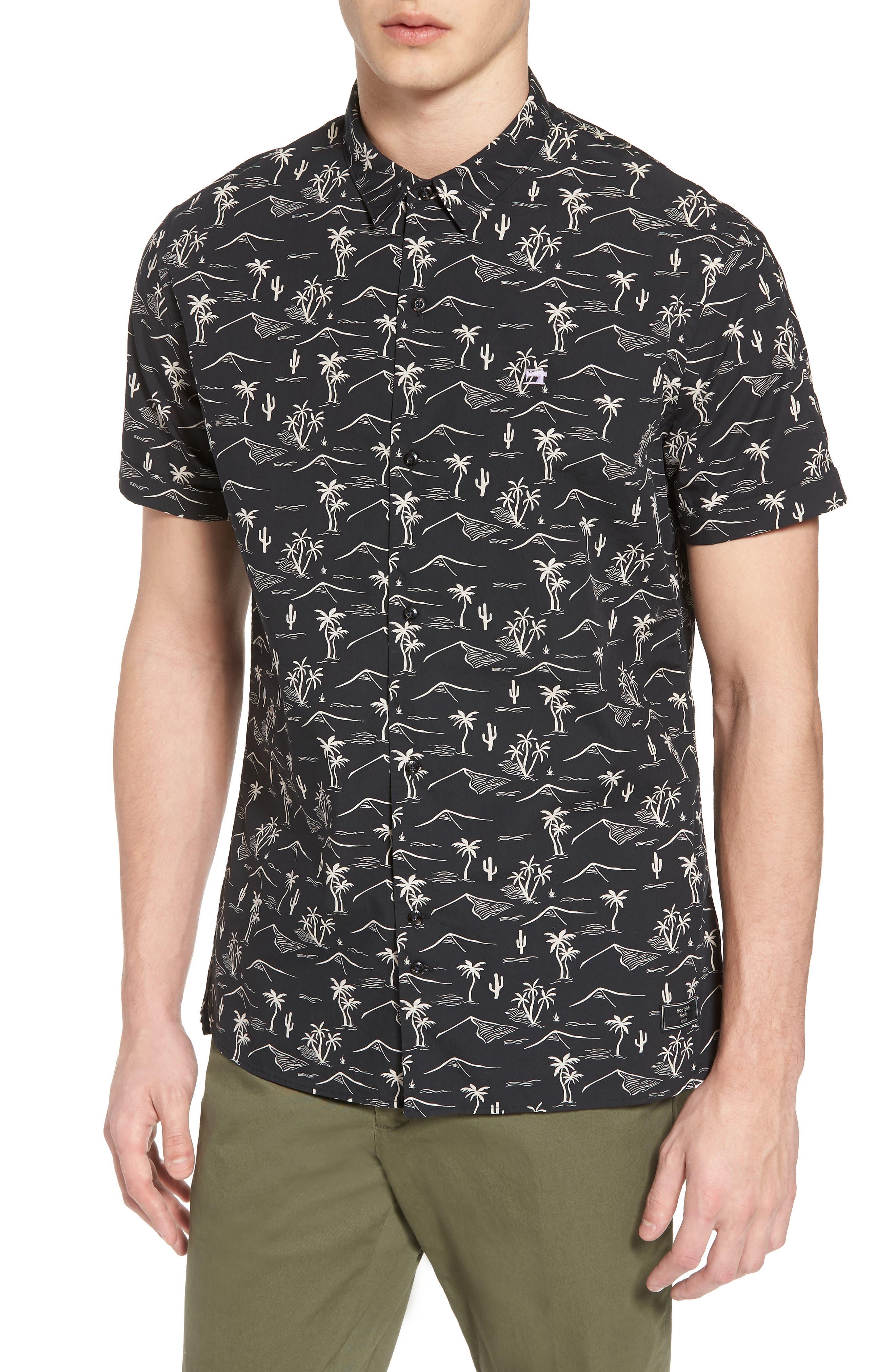 Poolside Woven Shirt,                             Main thumbnail 1, color,                             COMBO C