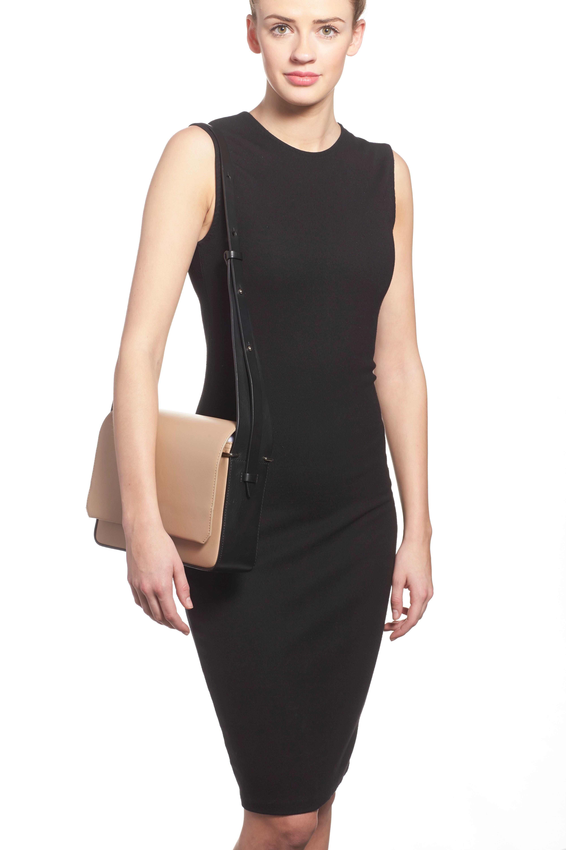'Alix' Flap Shoulder Bag,                             Alternate thumbnail 6, color,