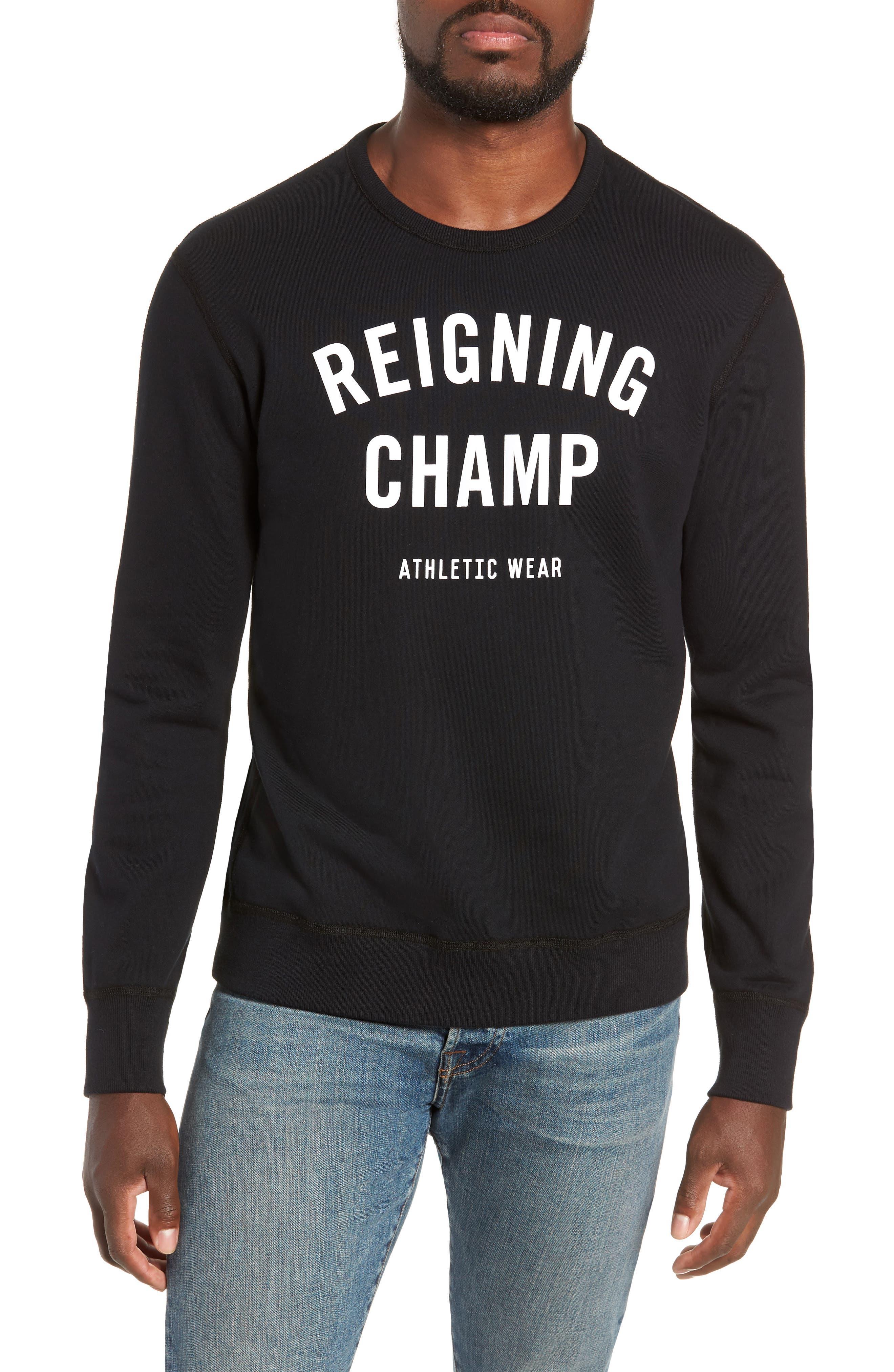 Gym Logo Sweatshirt,                         Main,                         color, BLACK/ WHITE