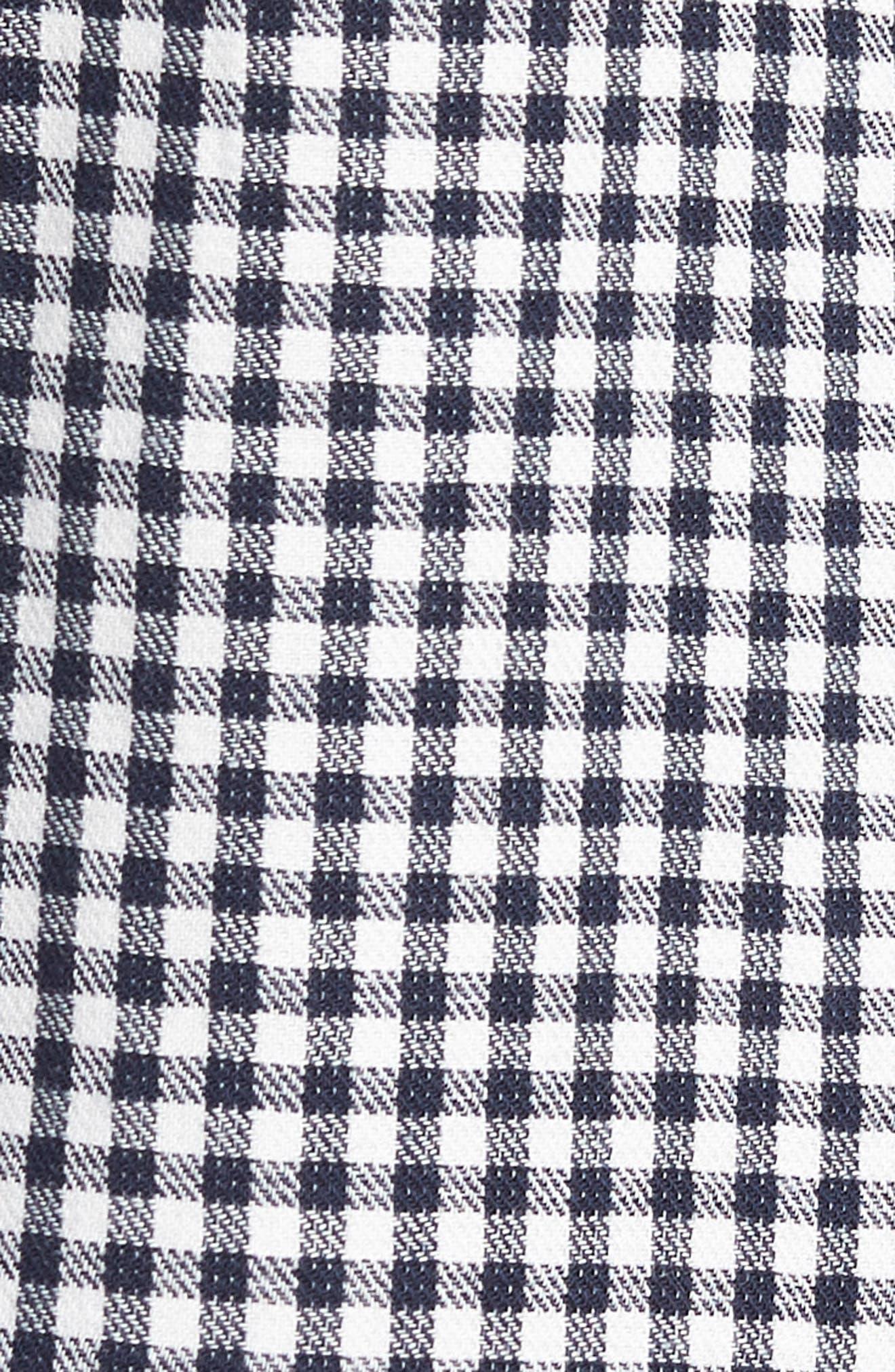 Fit 2 Tomlin Check Sport Shirt,                             Alternate thumbnail 5, color,                             NAVY GINGHAM