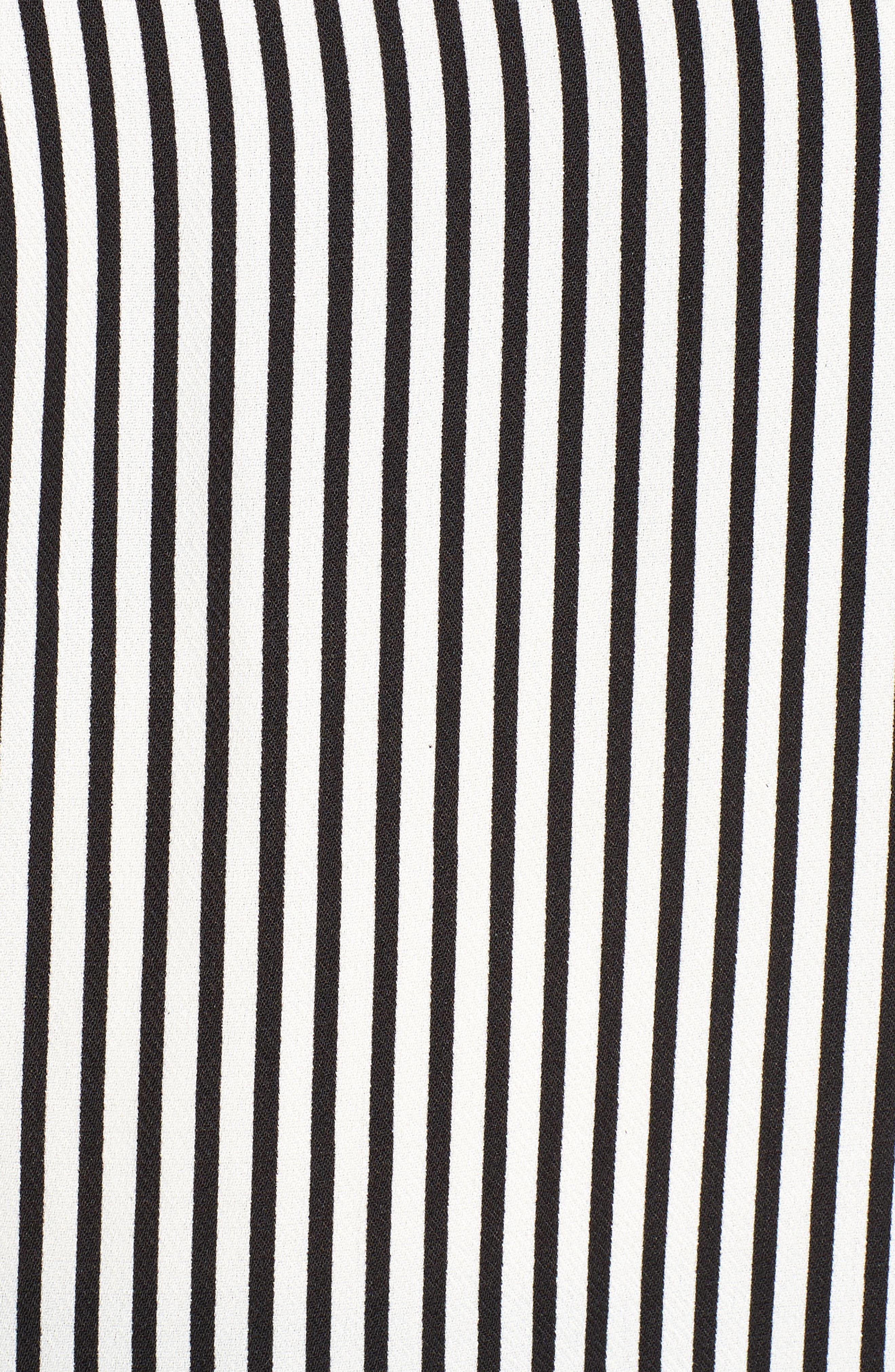 Bishop + Young Ava Stripe Cold Shoulder Top,                             Alternate thumbnail 6, color,                             BLACK STRIPE