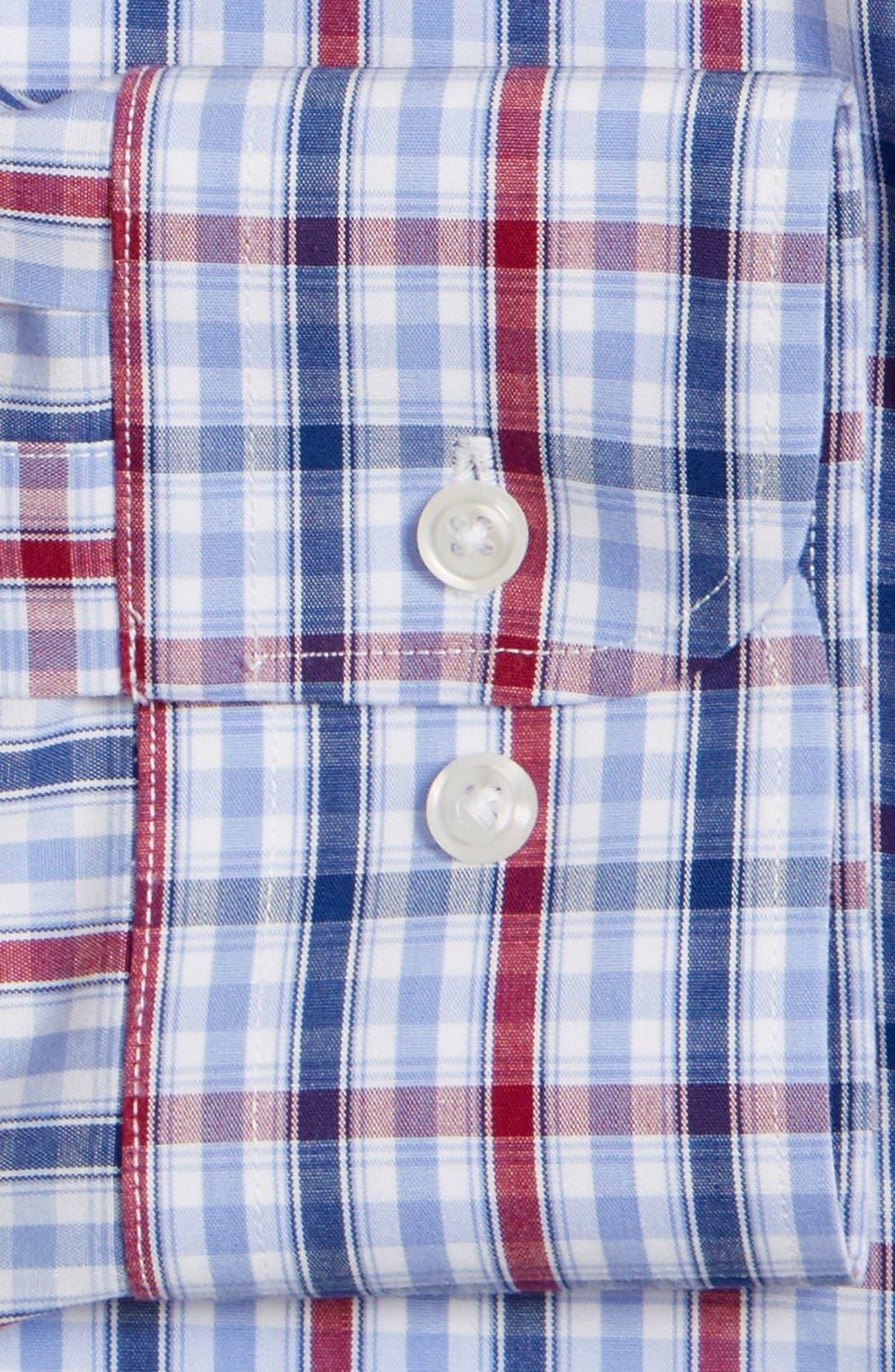 Smartcare<sup>™</sup> Trim Fit Plaid Dress Shirt,                             Alternate thumbnail 2, color,                             938