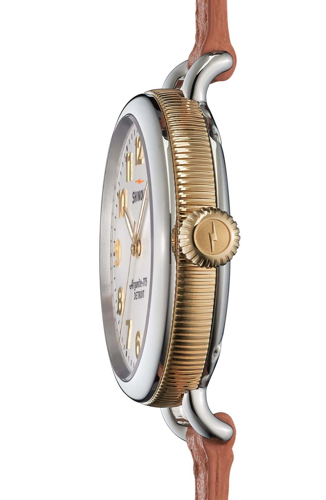'The Birdy' Double Wrap Leather Strap Watch, 34mm,                             Alternate thumbnail 31, color,