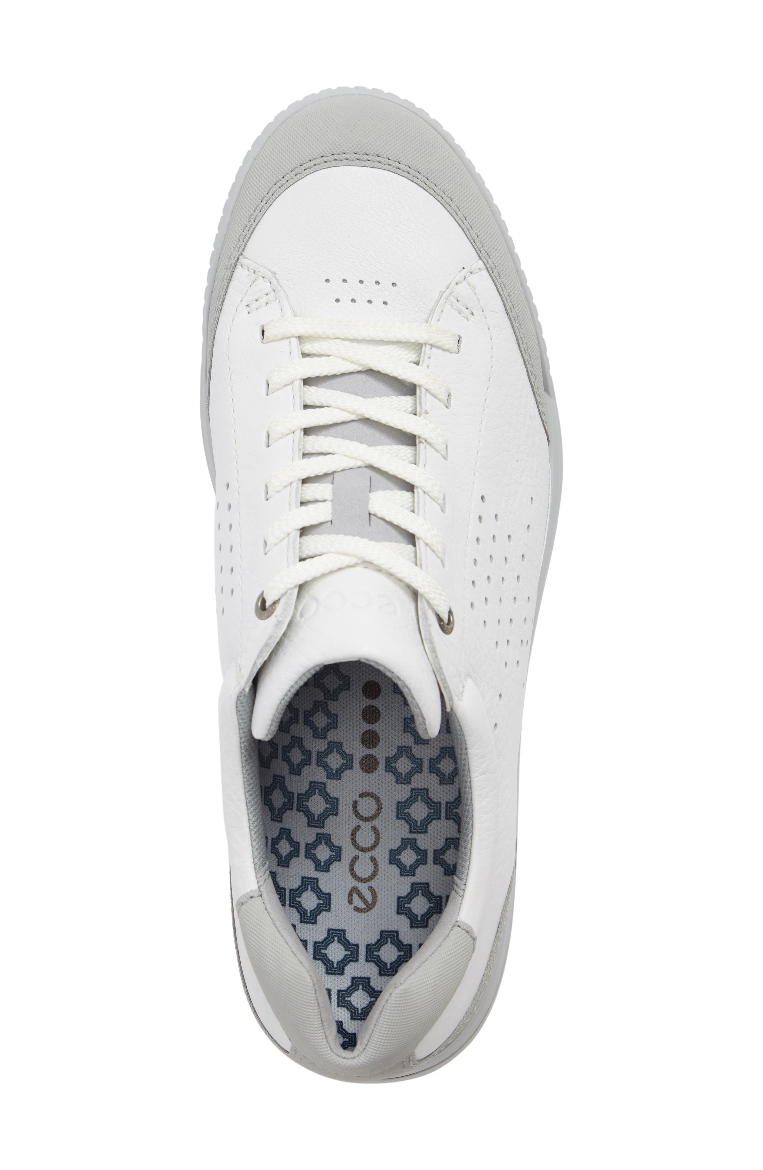 ECCO,                             Street Retro HM Golf Shoe,                             Alternate thumbnail 5, color,                             WHITE/ CONCRETE
