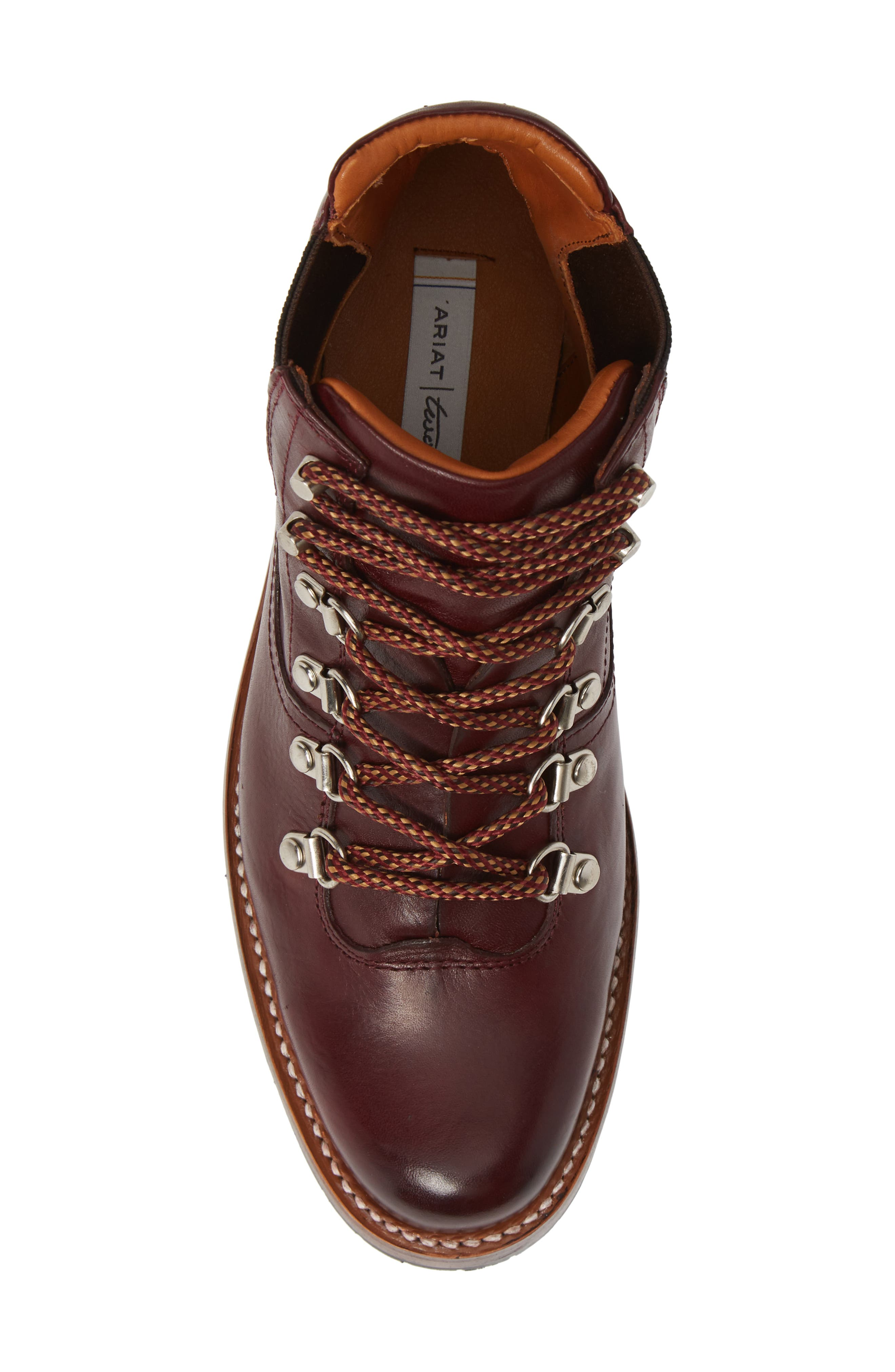 by Ariat Victoria Hiking Bootie,                             Alternate thumbnail 5, color,                             CORDOVAN LEATHER