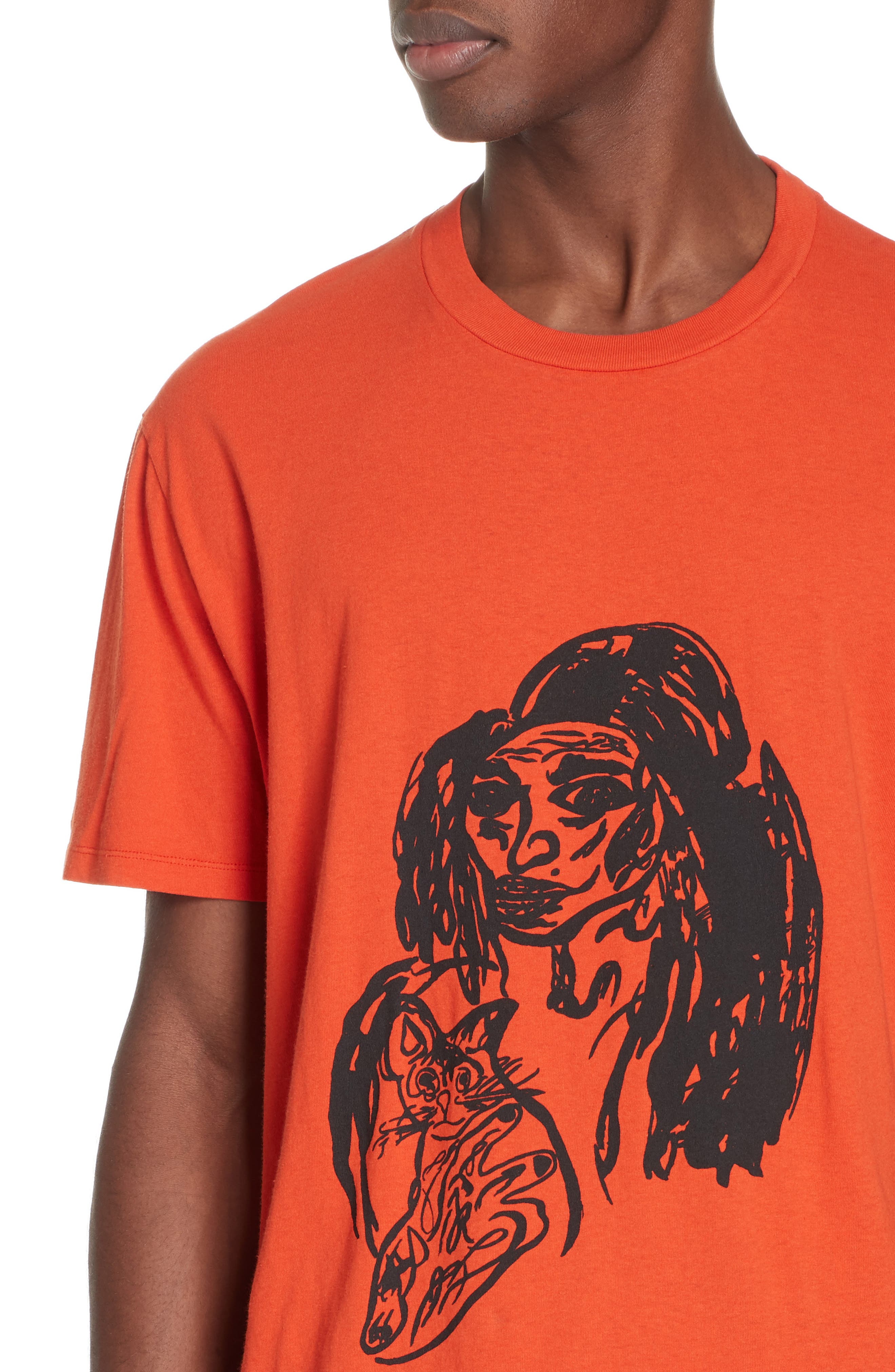 Portrait Graphic Box T-shirt,                             Alternate thumbnail 4, color,                             RED