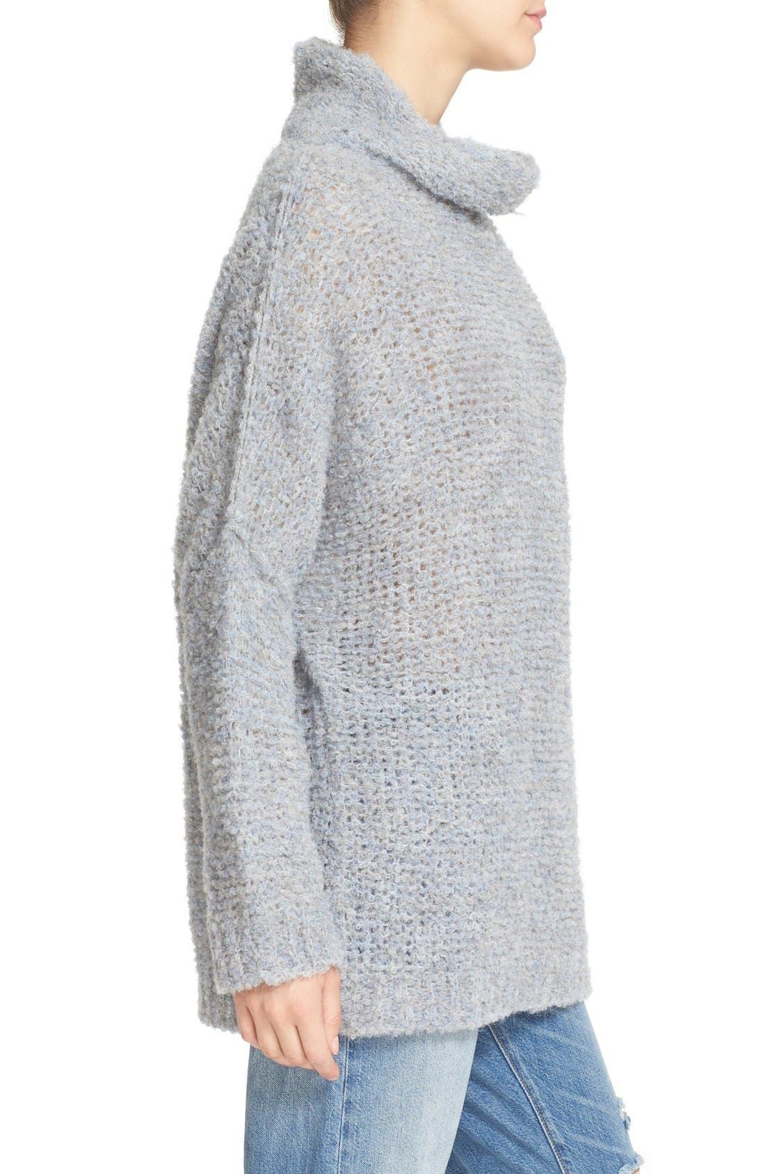 'She's All That' Knit Turtleneck Sweater,                             Alternate thumbnail 8, color,