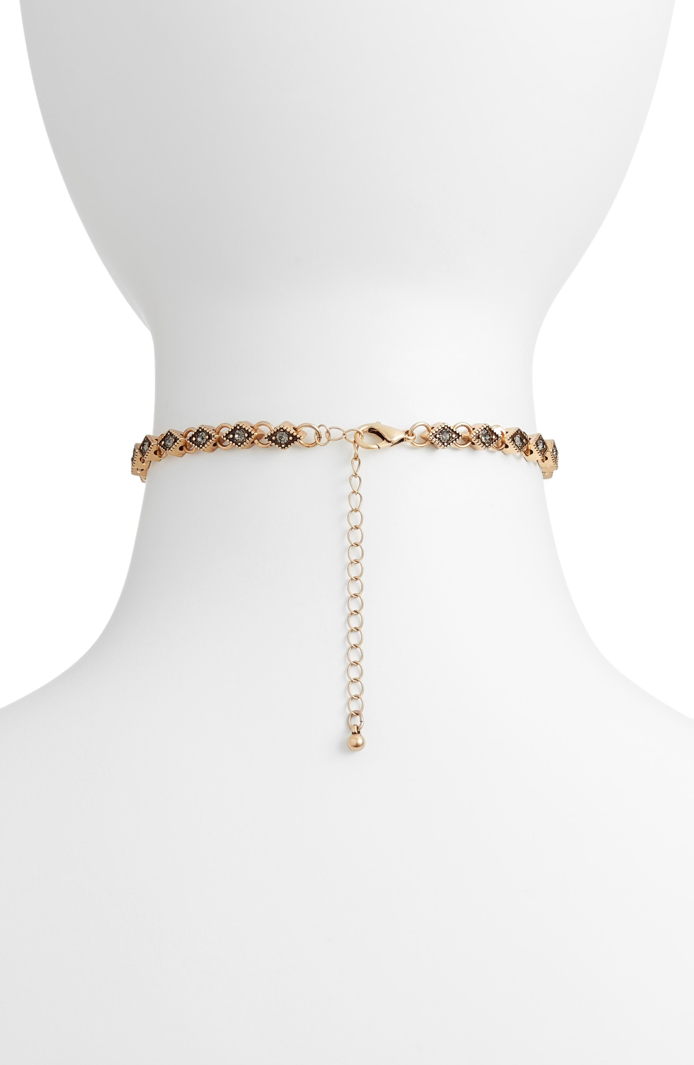 Diamond Choker Necklace,                             Alternate thumbnail 4, color,