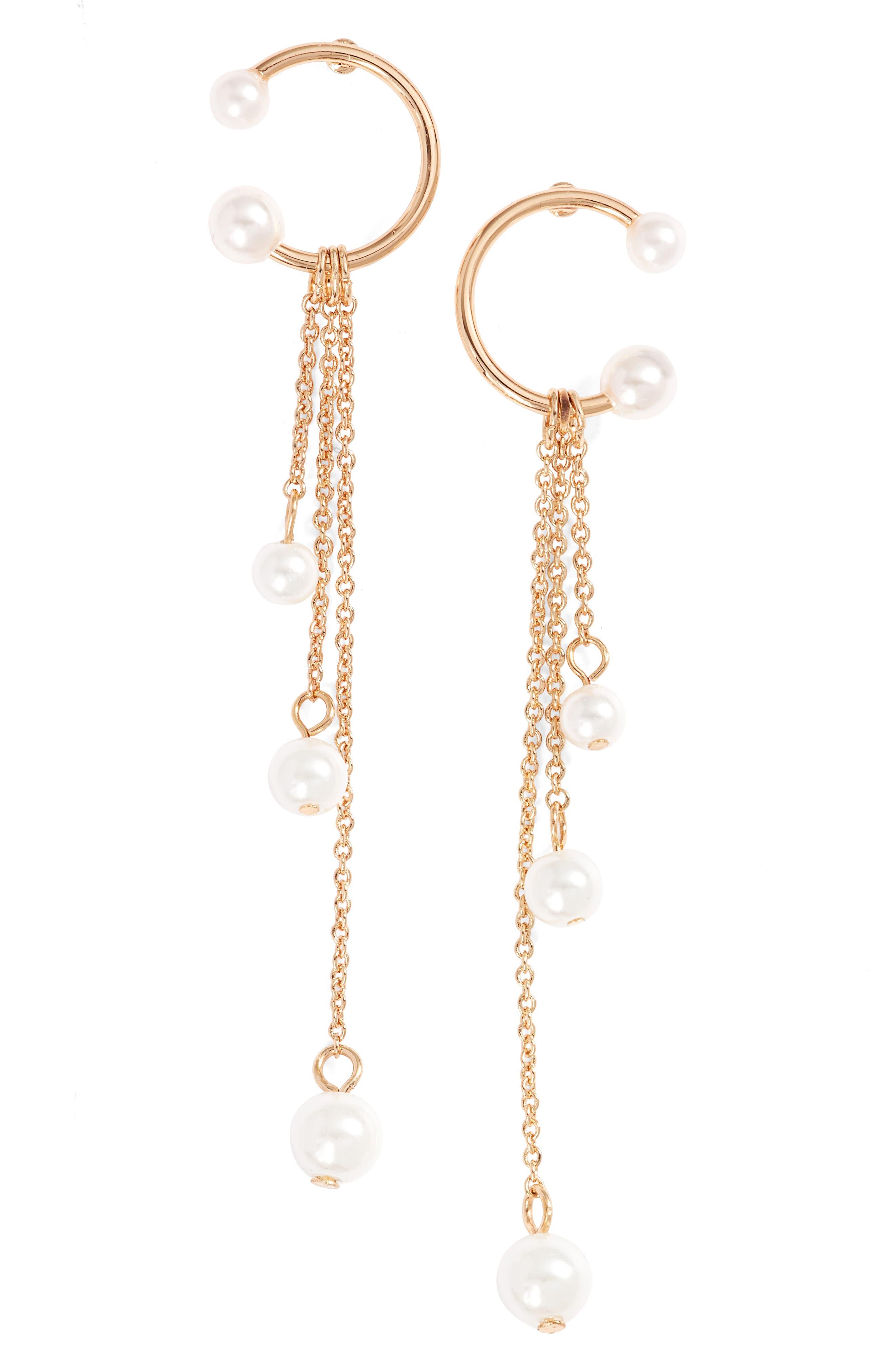 Linear Drop Earrings,                             Main thumbnail 4, color,
