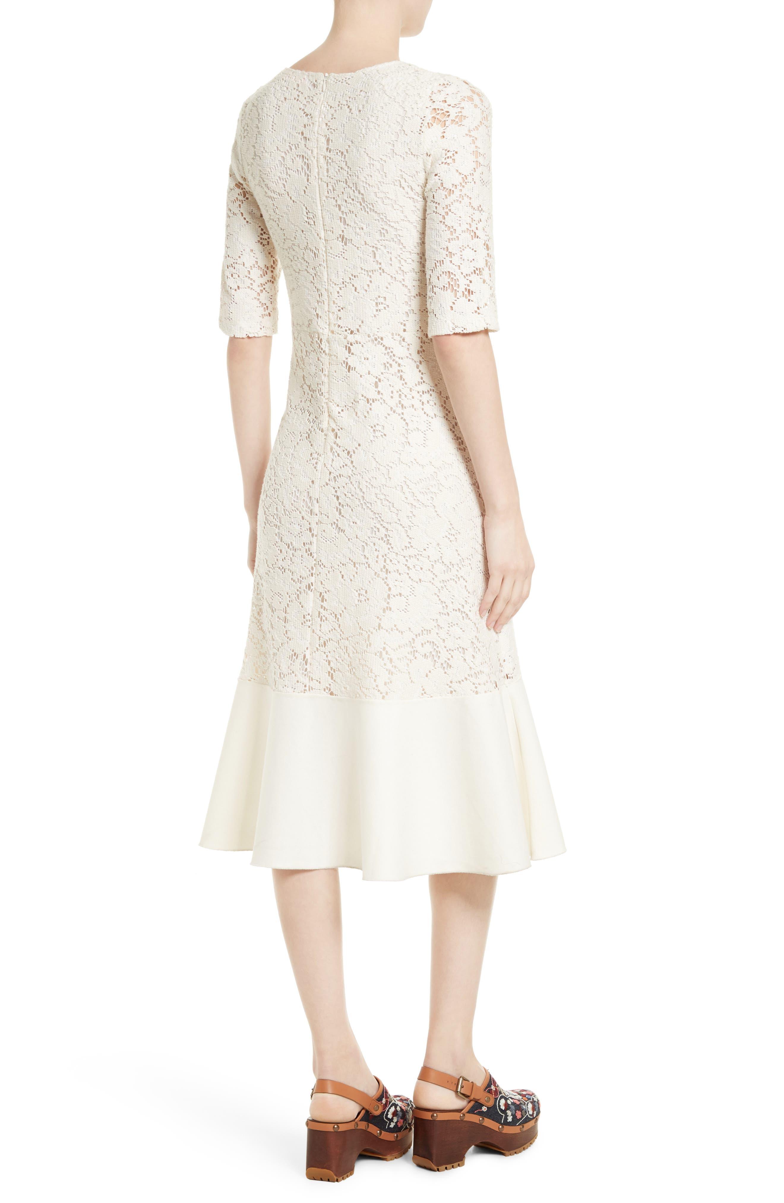 Lace Flounce Hem Dress,                             Alternate thumbnail 2, color,                             900