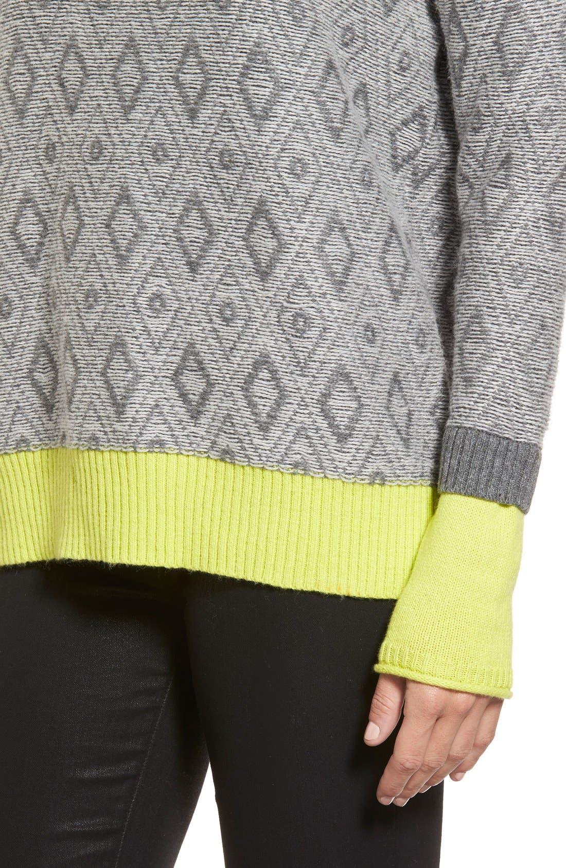 Contrast Cuff Crewneck Sweater,                             Alternate thumbnail 36, color,