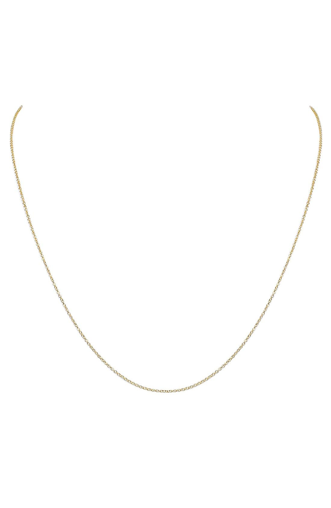 Chain Necklace,                             Main thumbnail 1, color,                             YELLOW GOLD