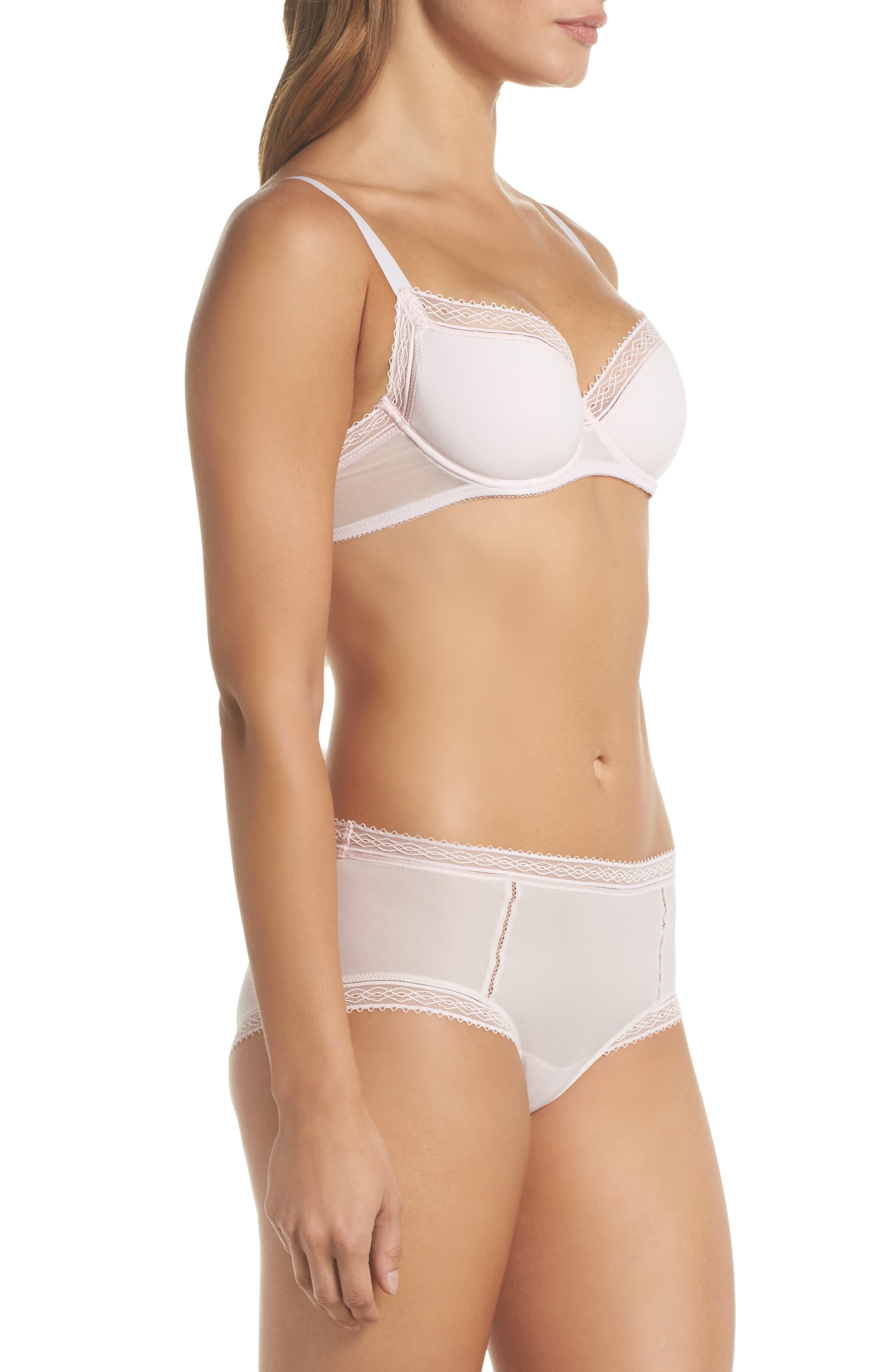 Tentation Douceur Padded Underwire Demi Bra,                             Alternate thumbnail 8, color,                             650