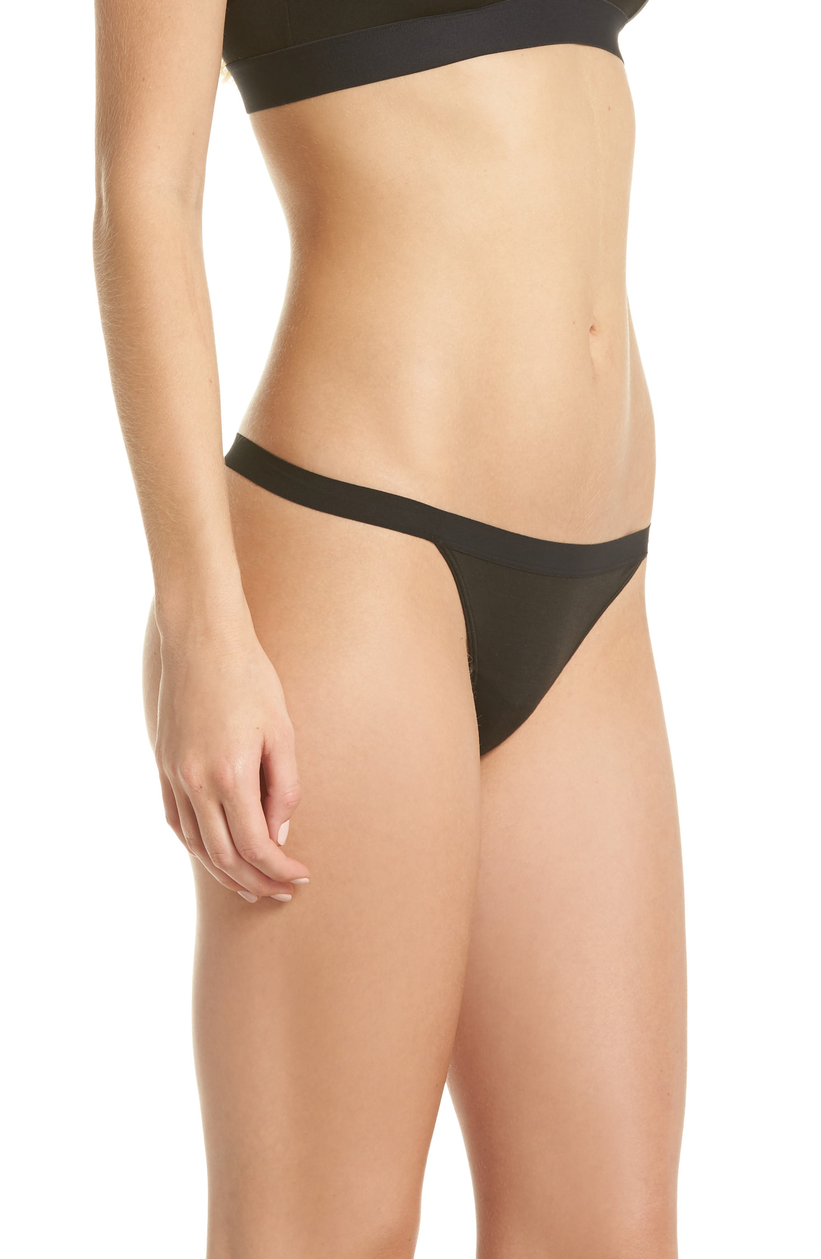 Micromodal Thong,                             Alternate thumbnail 3, color,                             001
