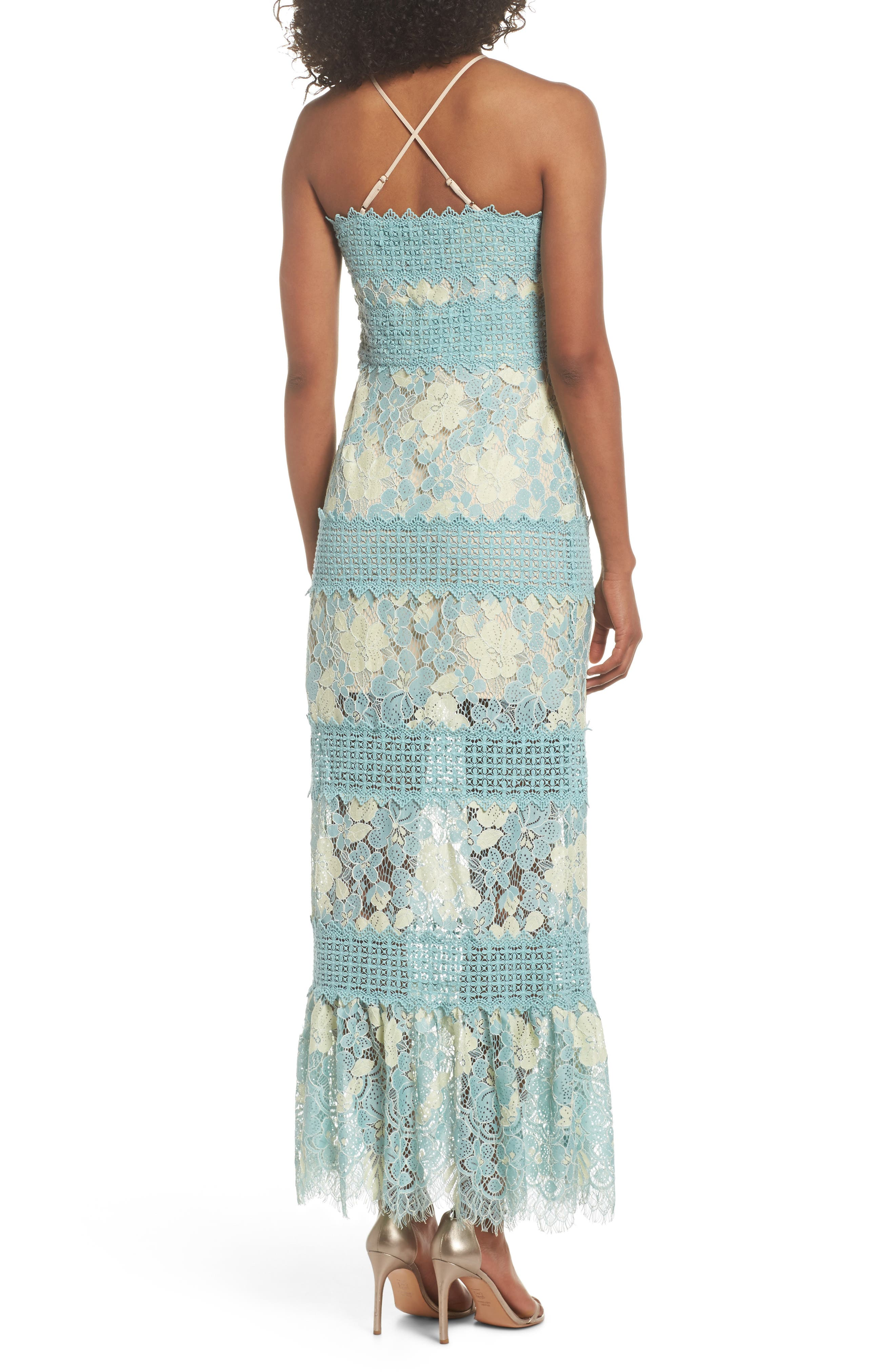 Tabitha Lace Maxi Dress,                             Alternate thumbnail 4, color,