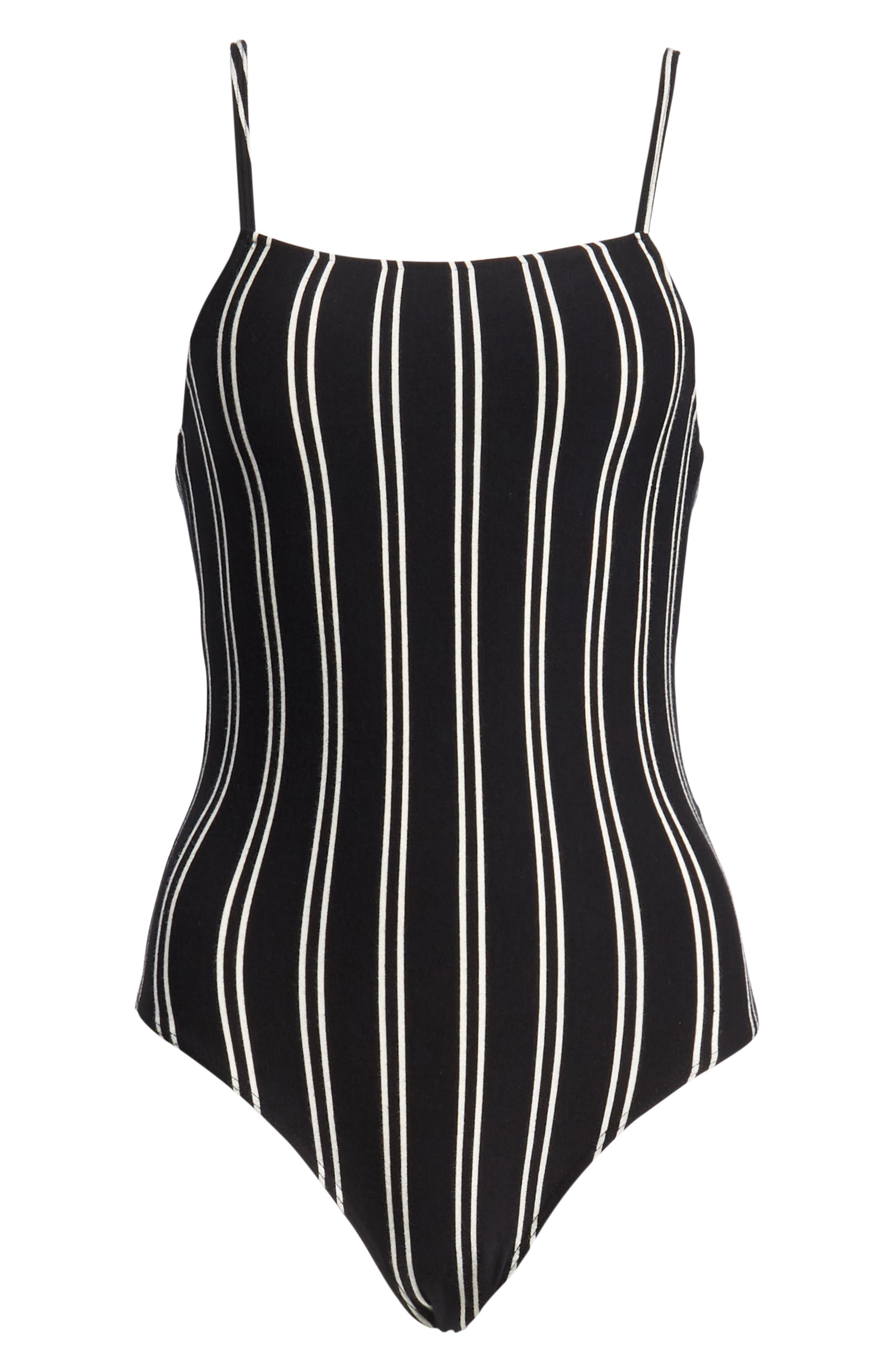 Lockette Stripe Bodysuit,                             Alternate thumbnail 6, color,                             005