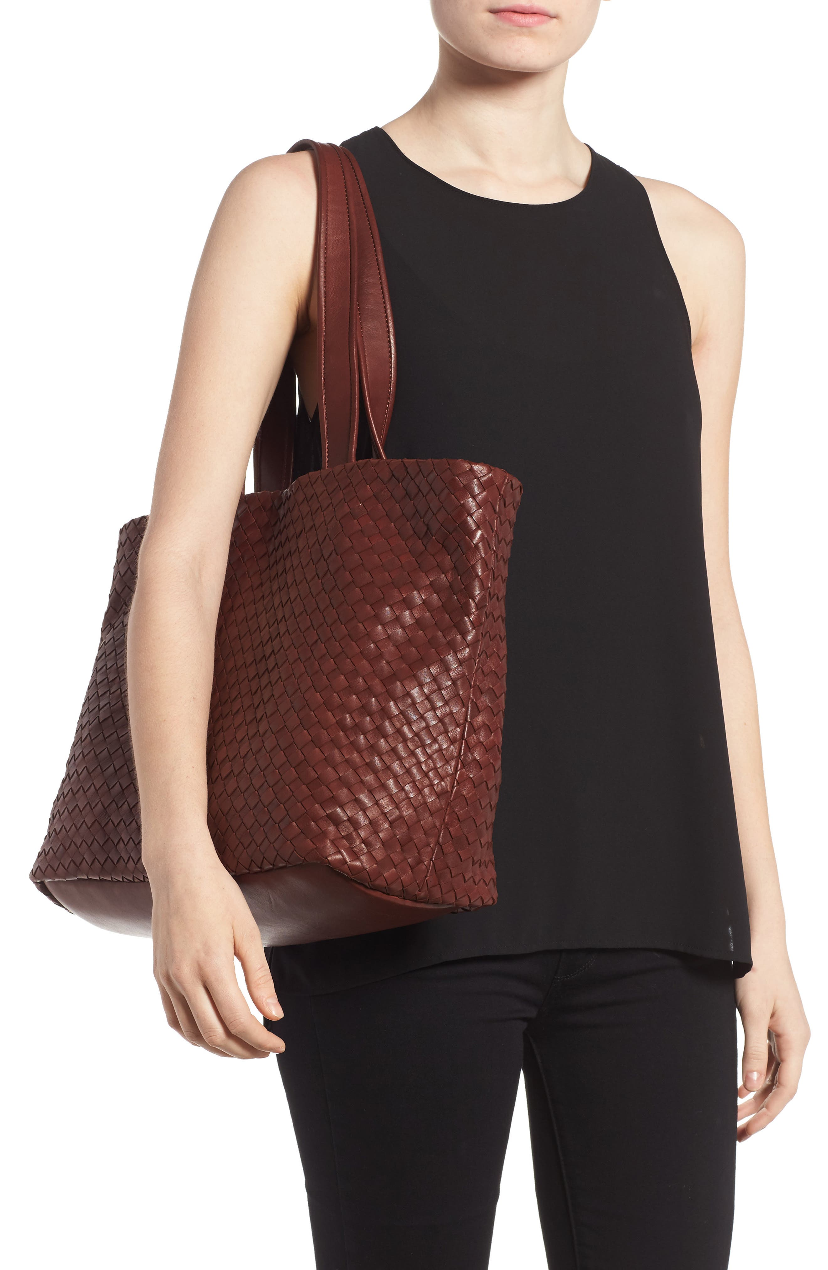 Rina Leather Tote,                             Alternate thumbnail 2, color,                             LUGGAGE